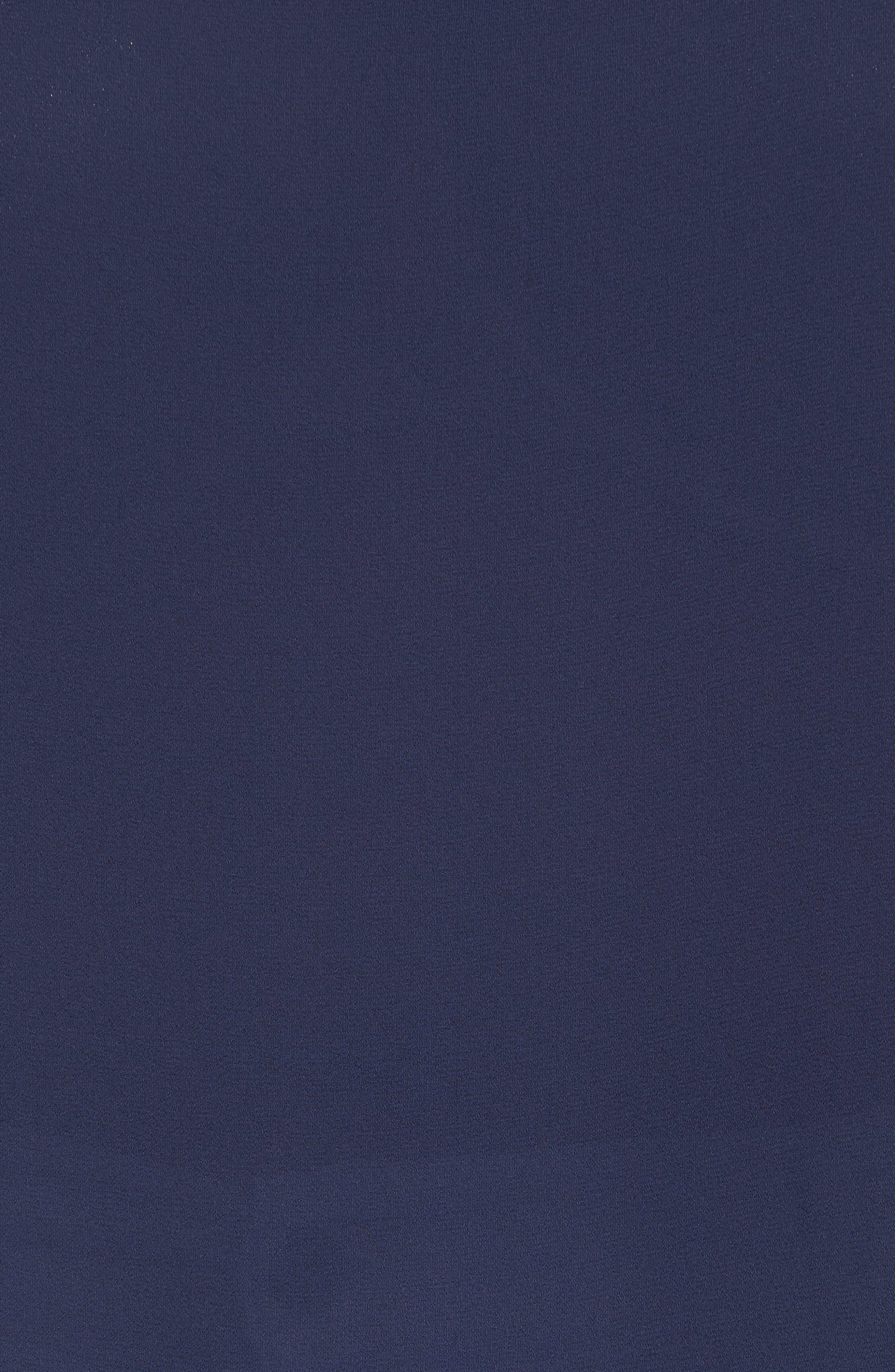Cap Sleeve Ruffle Top,                             Alternate thumbnail 5, color,                             Navy Peacoat