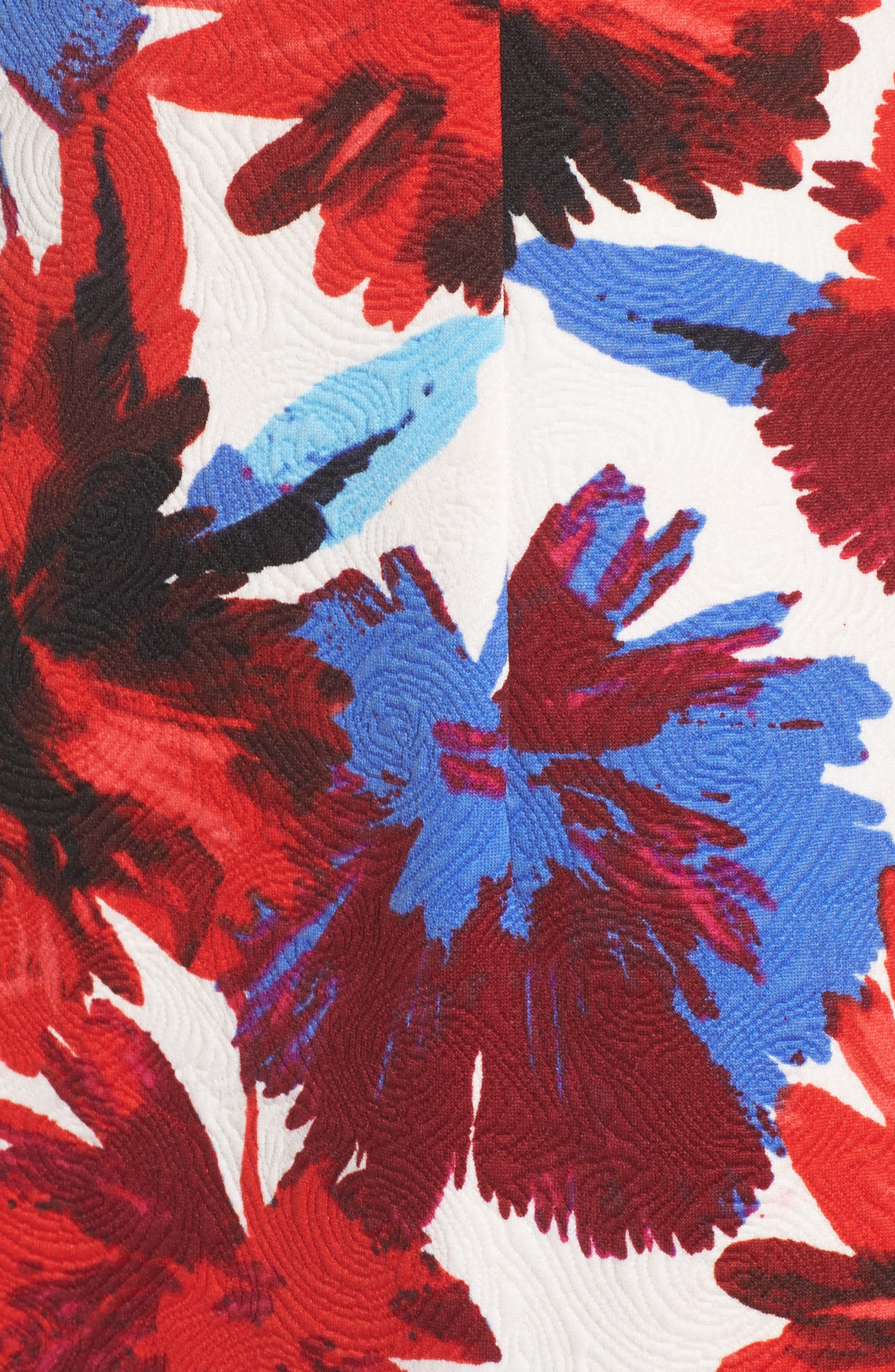 Flounce Dress,                             Alternate thumbnail 5, color,                             White/ Red