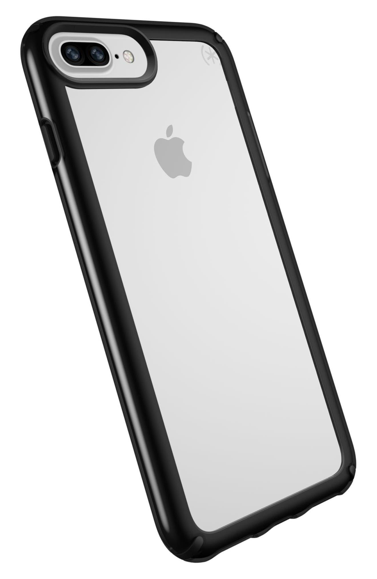 iPhone 6/6s/7/8 Plus Case,                             Alternate thumbnail 4, color,                             Clear/ Black