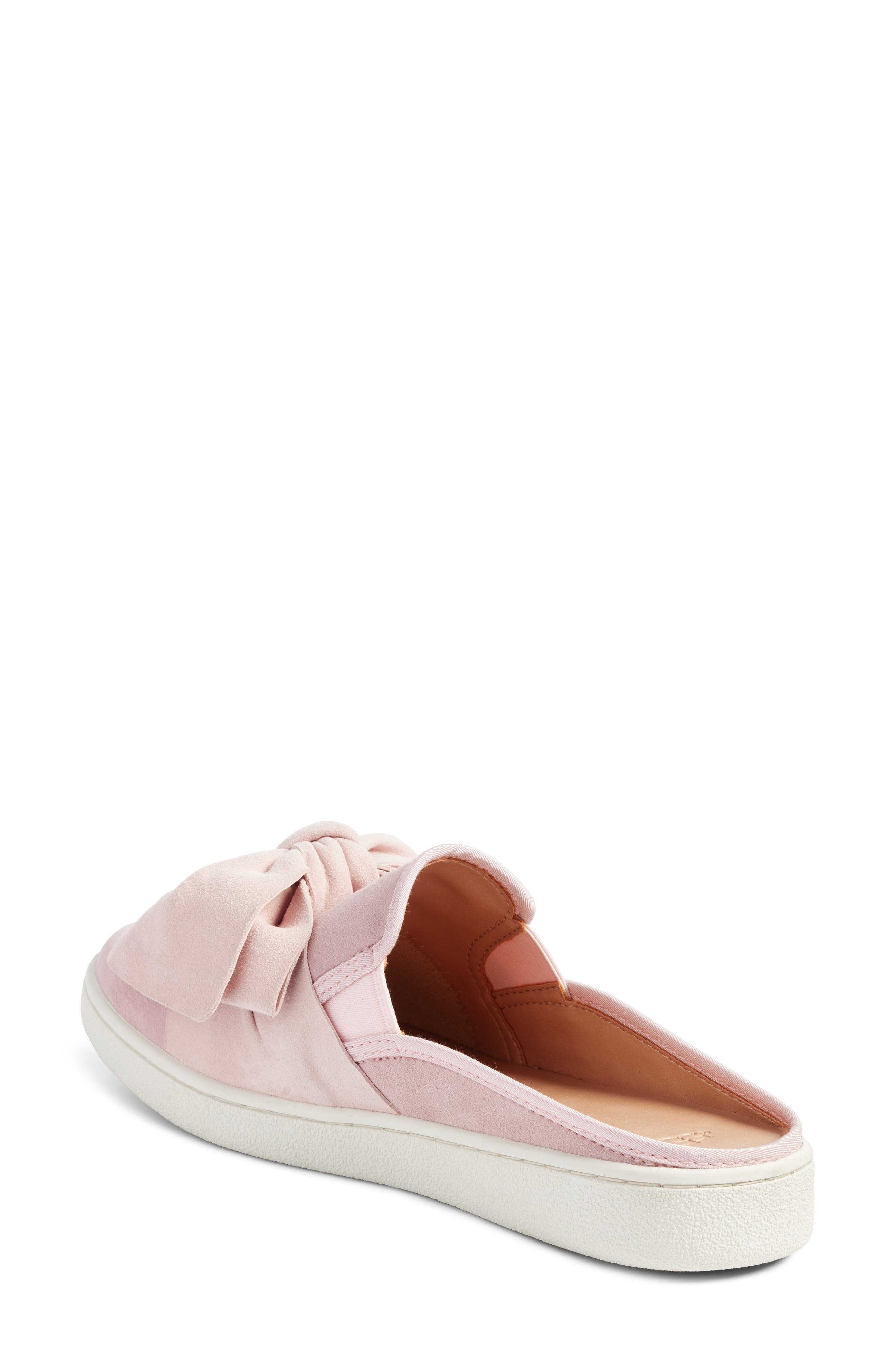 Luci Bow Sneaker Mule,                             Alternate thumbnail 2, color,                             Seashell Pink Suede