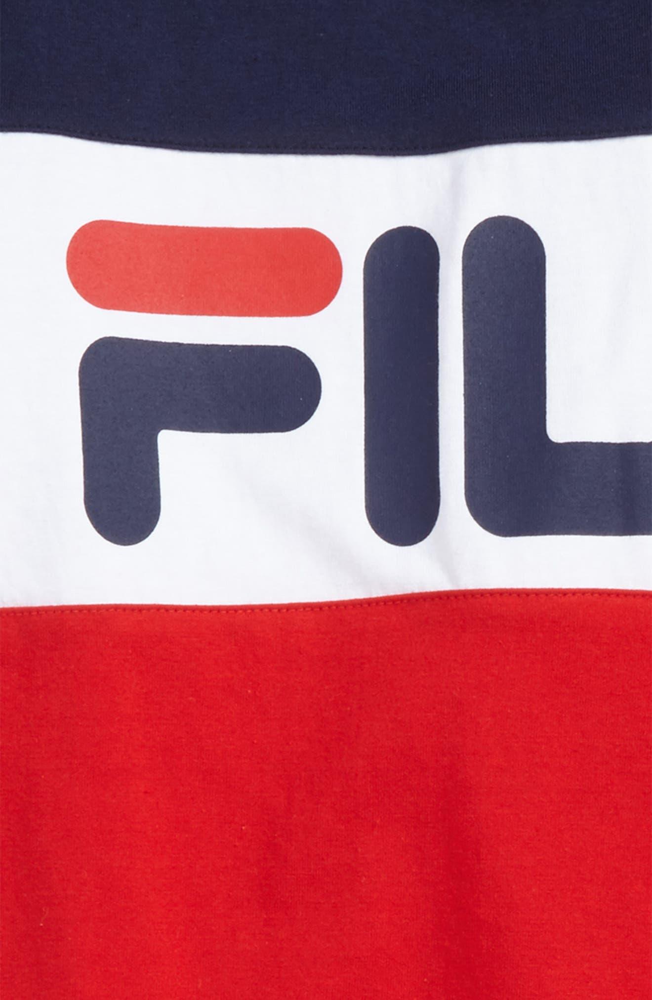 Alternate Image 2  - FILA Colorblock Logo T-Shirt (Big Boys)