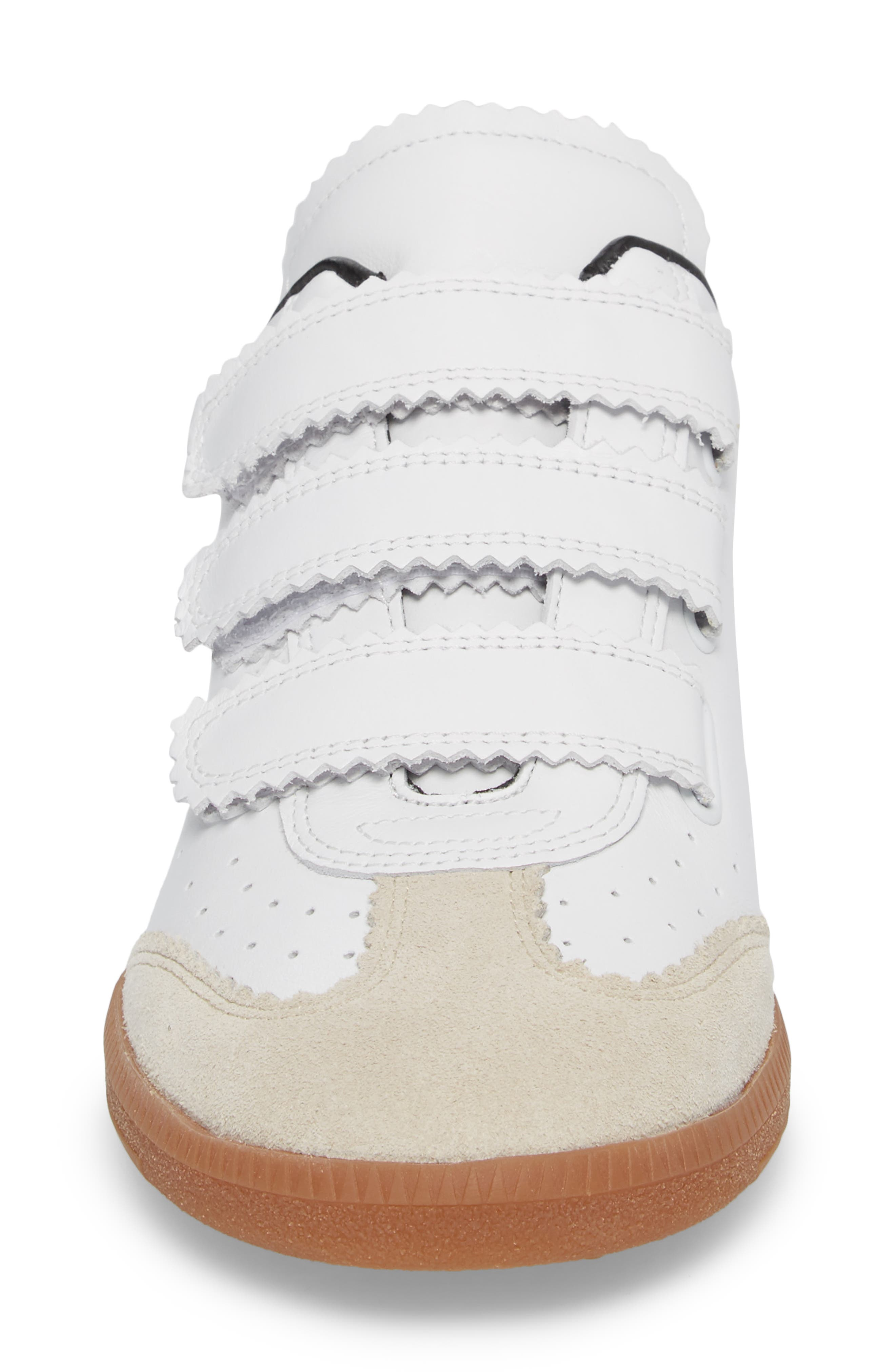 Isabel Marant Beth Low Top Sneaker,                             Alternate thumbnail 4, color,                             White
