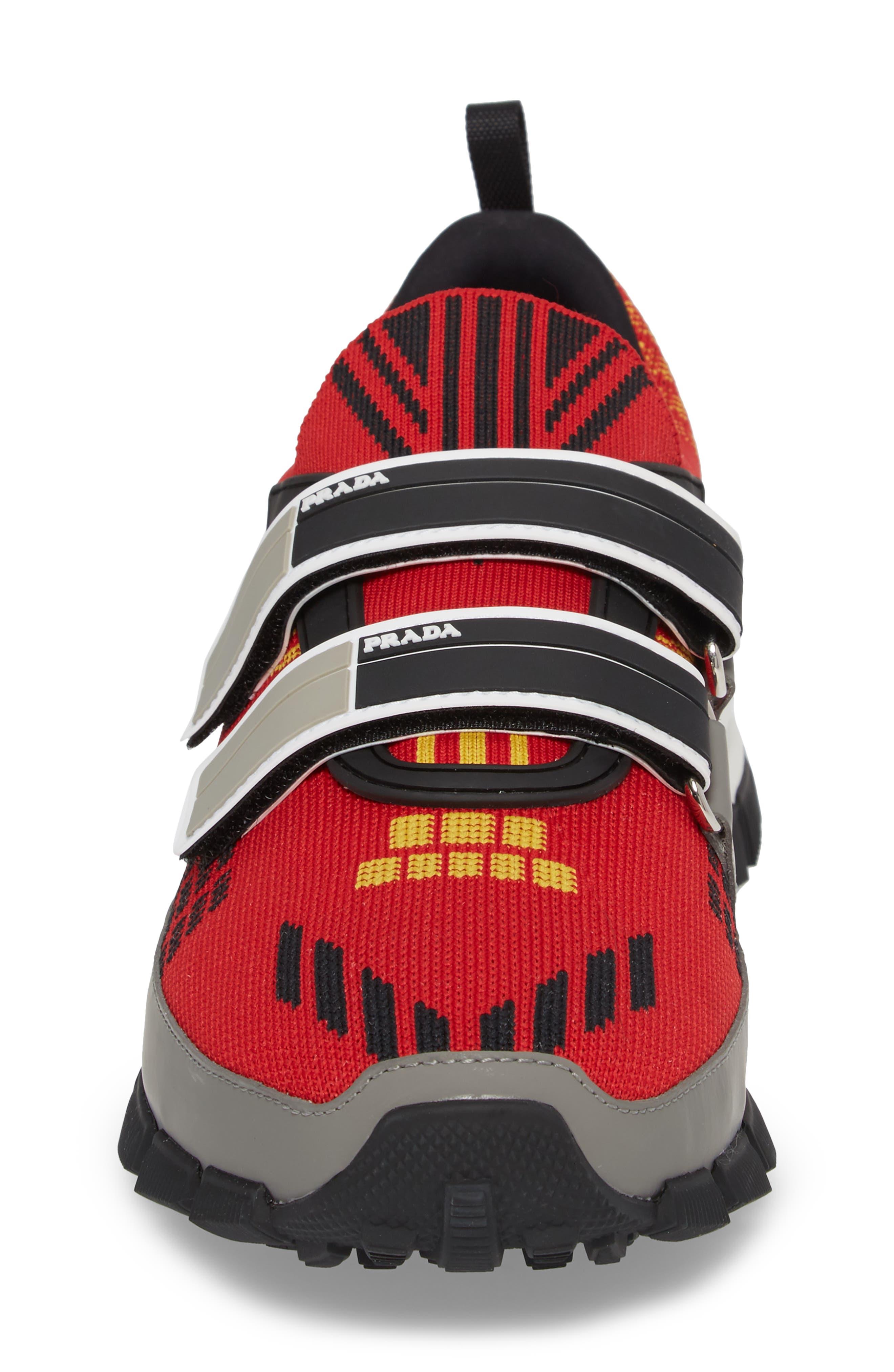 Linea Rossa Strap Sneaker,                             Alternate thumbnail 4, color,                             Scarlatto Red