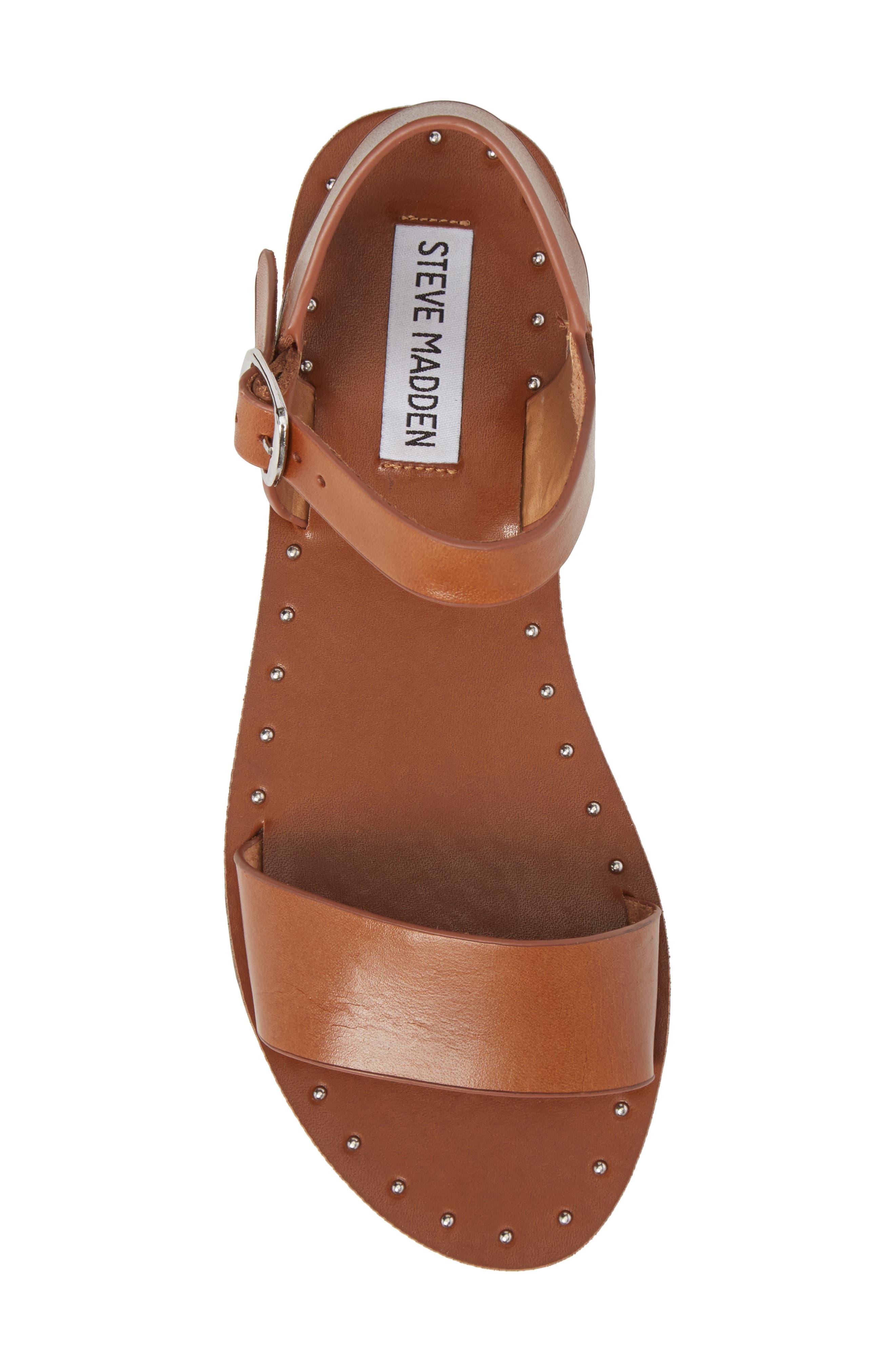 Dupe Sandal,                             Alternate thumbnail 5, color,                             Cognac Leather