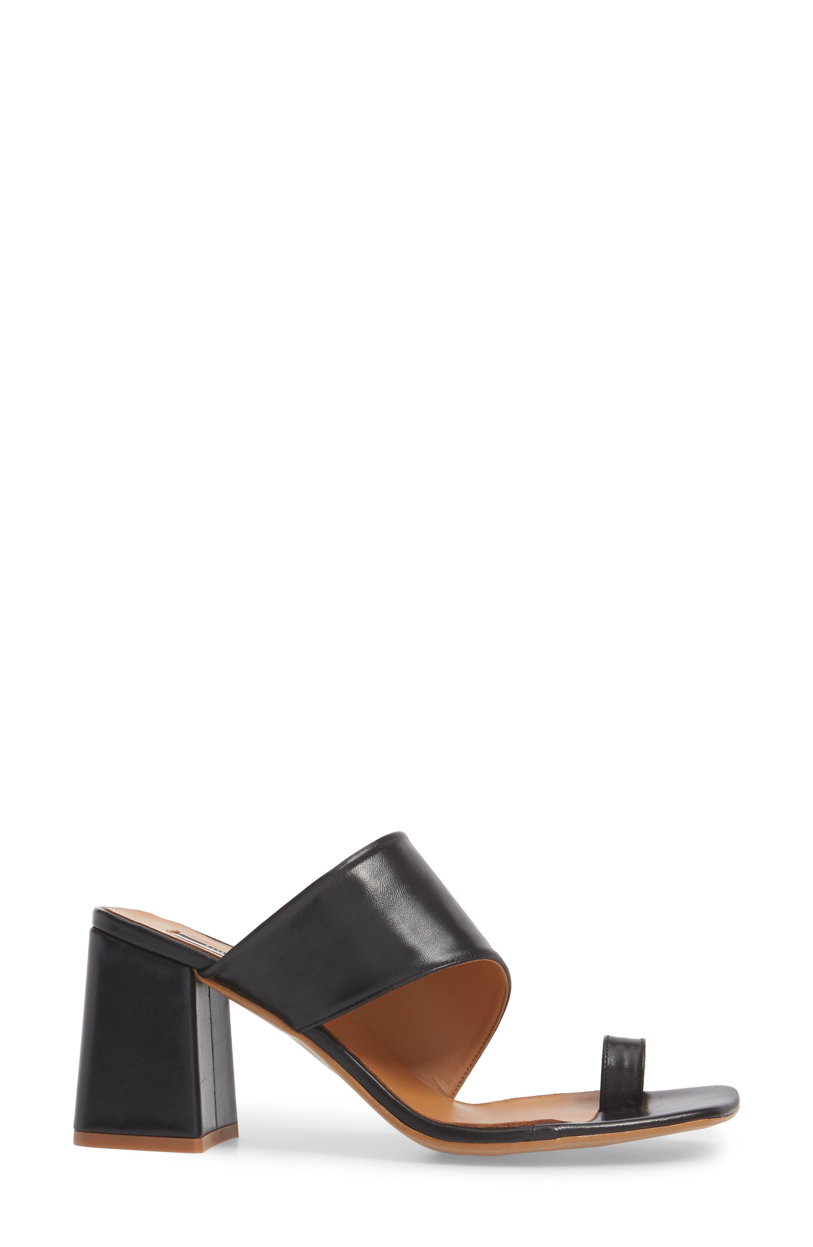 Nimble Toe Loop Slide Sandal,                             Alternate thumbnail 3, color,                             Black