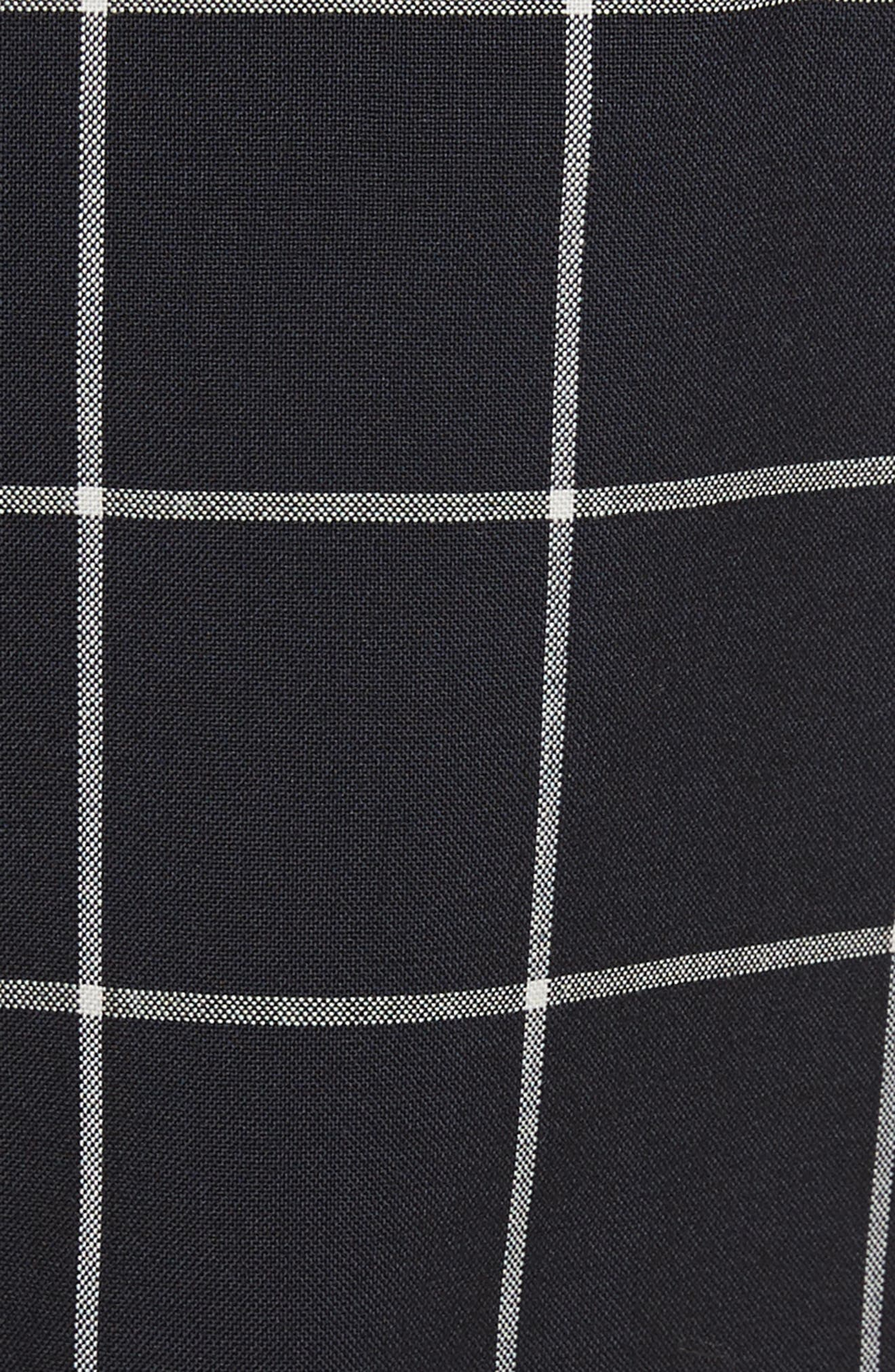 Peekaboo Windowpane Plaid Wool Shorts,                             Alternate thumbnail 5, color,                             Navy/ White