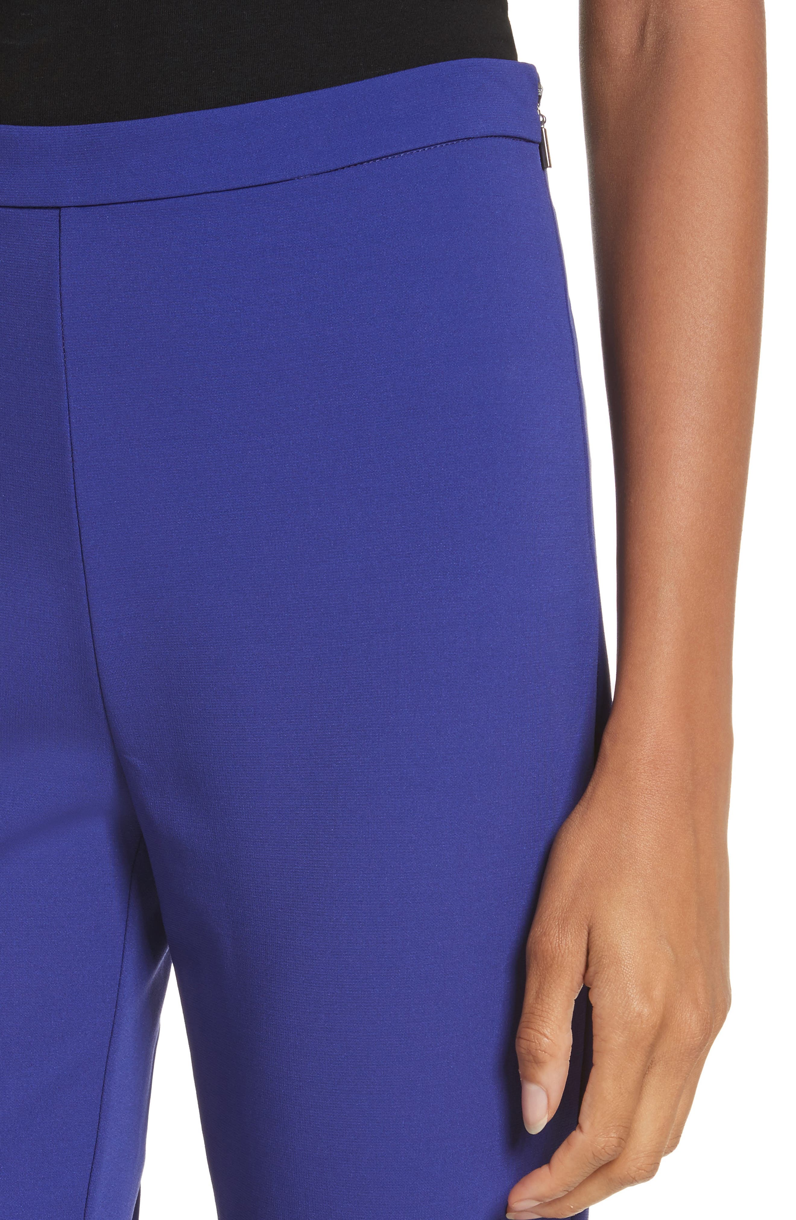 Calerno Crepe Crop Trousers,                             Alternate thumbnail 4, color,                             Violet