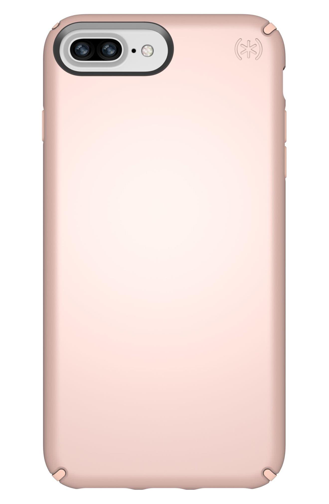 iPhone 6/6s/7/8 Plus Case,                         Main,                         color, Rose Gold Metallic/ Peach