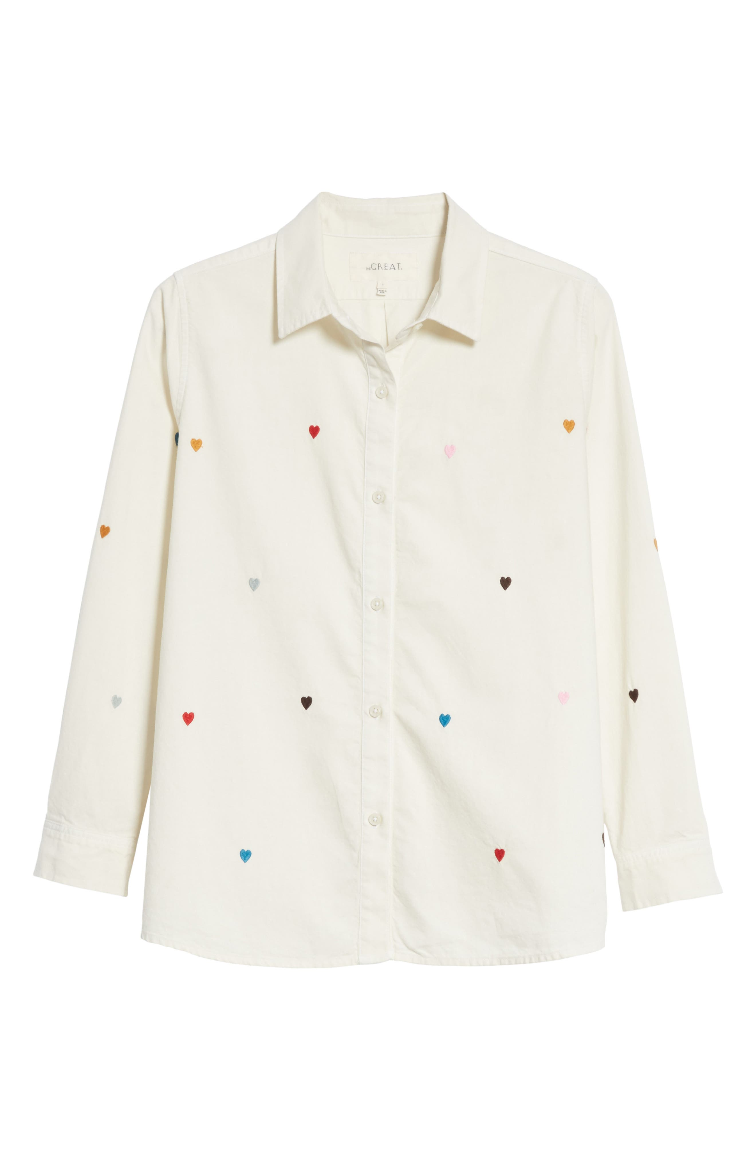 Alternate Image 6  - THE GREAT. The Campus Heart Embroidered Shirt