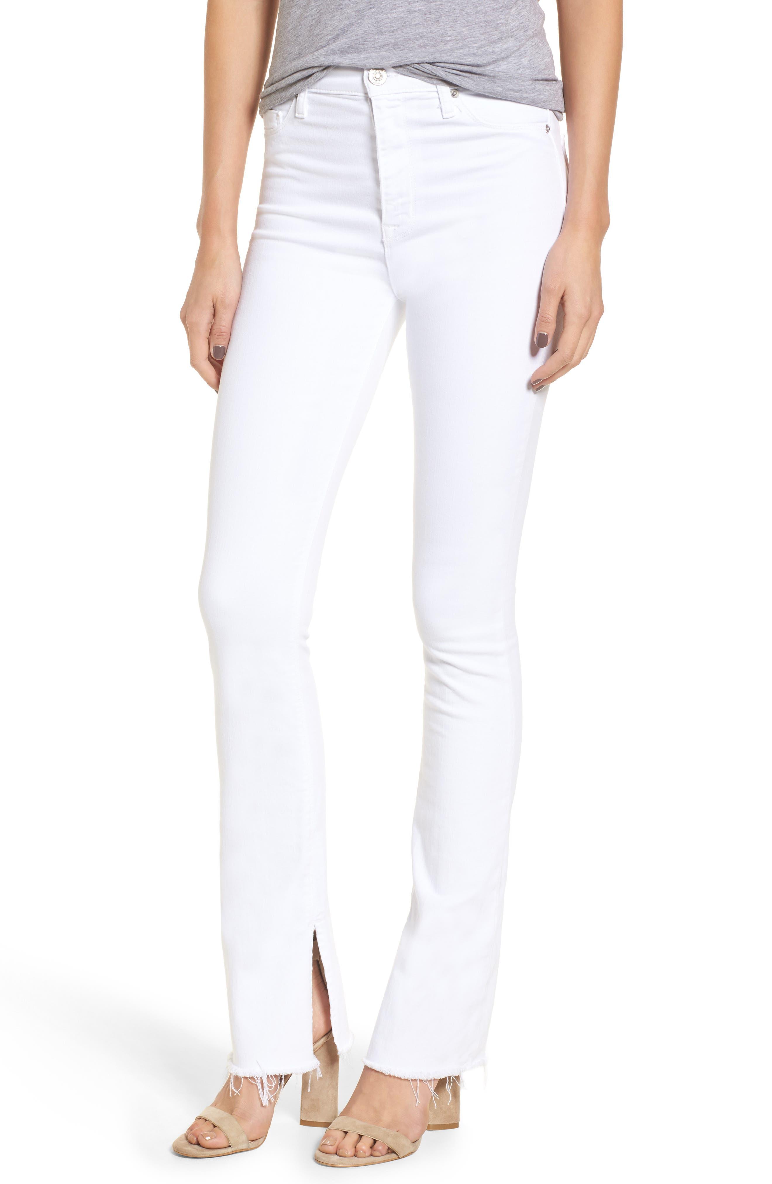 Hudson Jeans Heartbreaker High Waist Bootcut Jeans (Optical White)