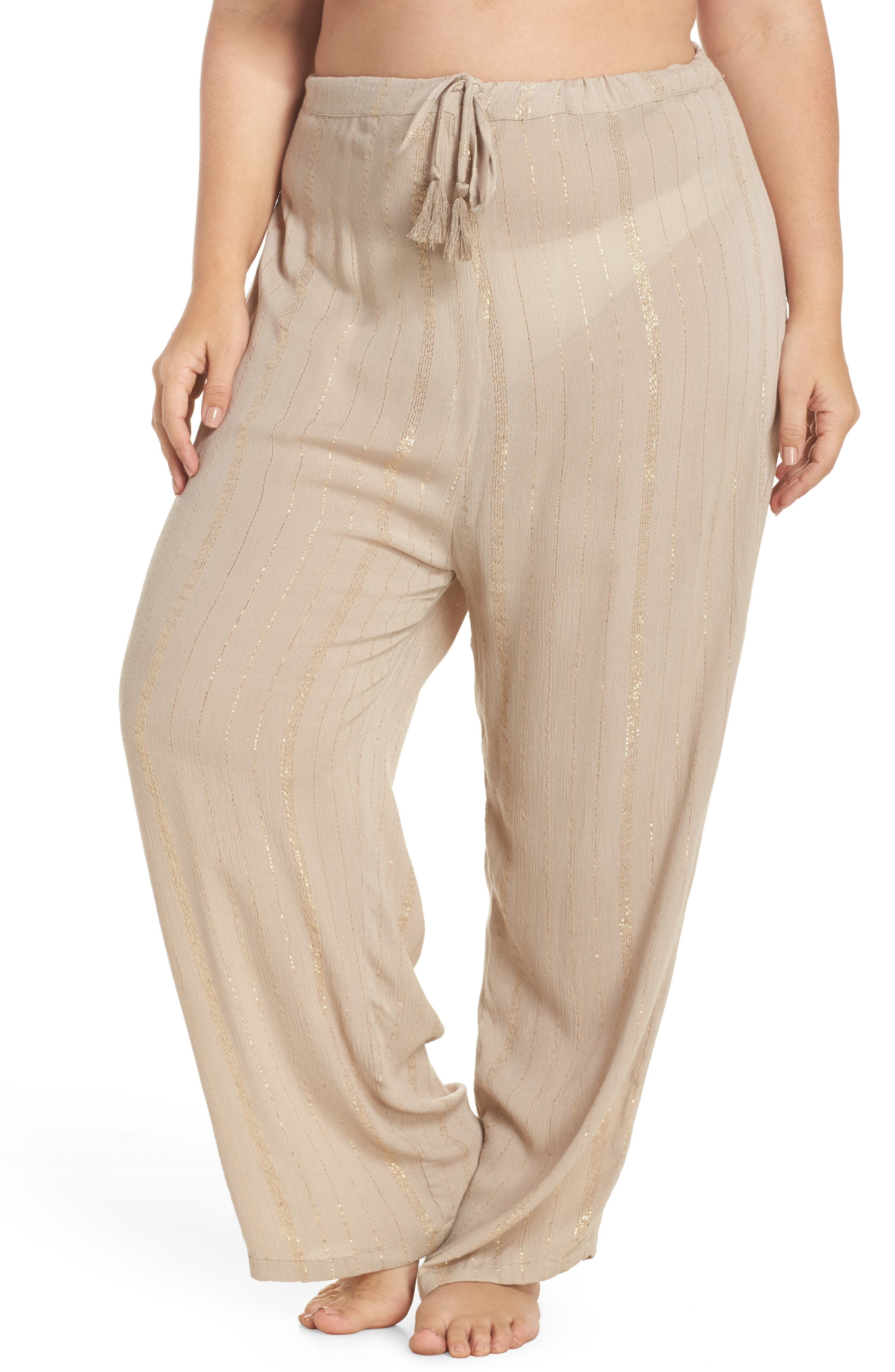 Iris Cover-Up Pants,                             Main thumbnail 1, color,                             Taupe/ Gold