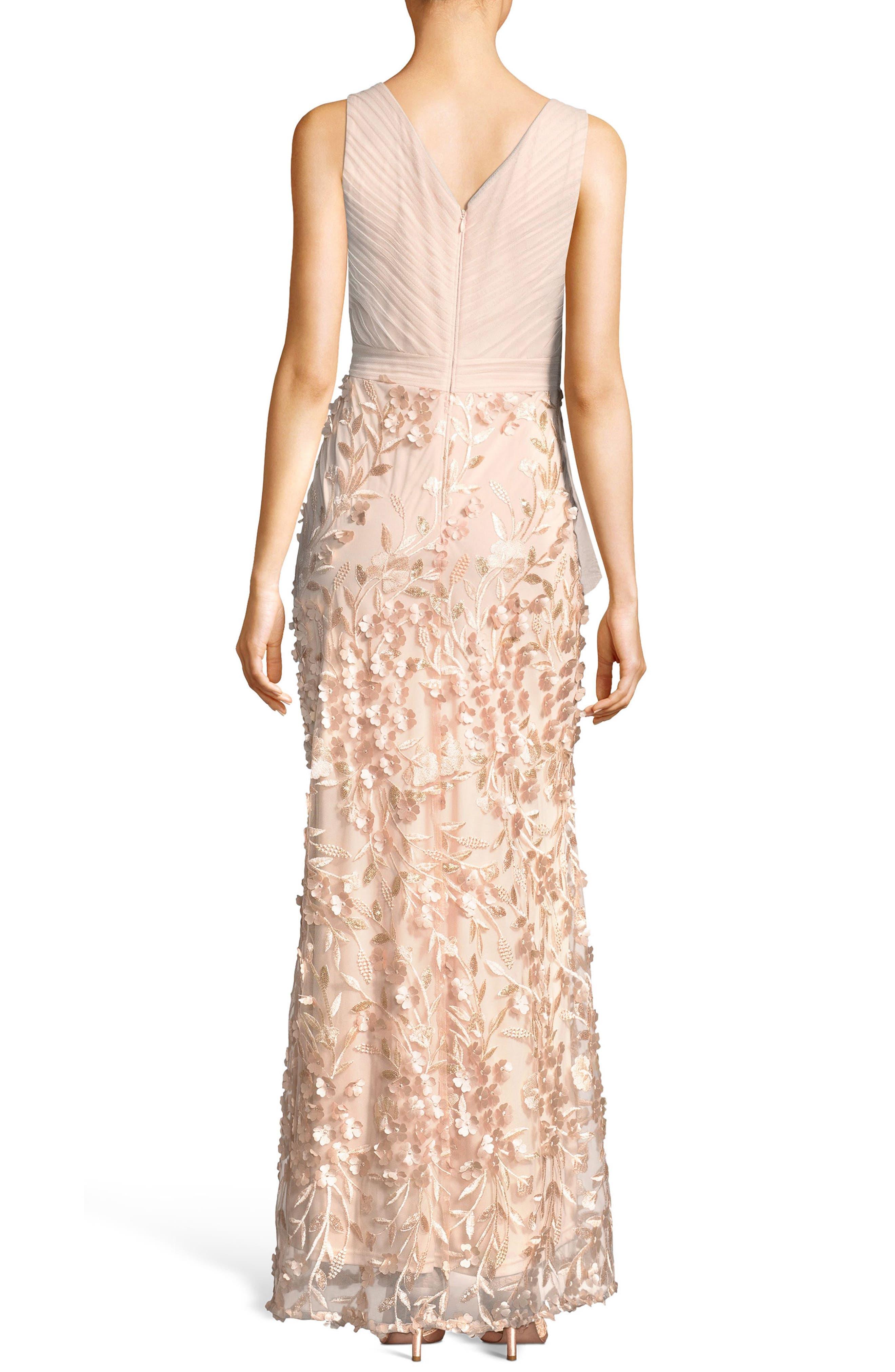Petal Embellished Tulle Gown,                             Alternate thumbnail 2, color,                             Blush