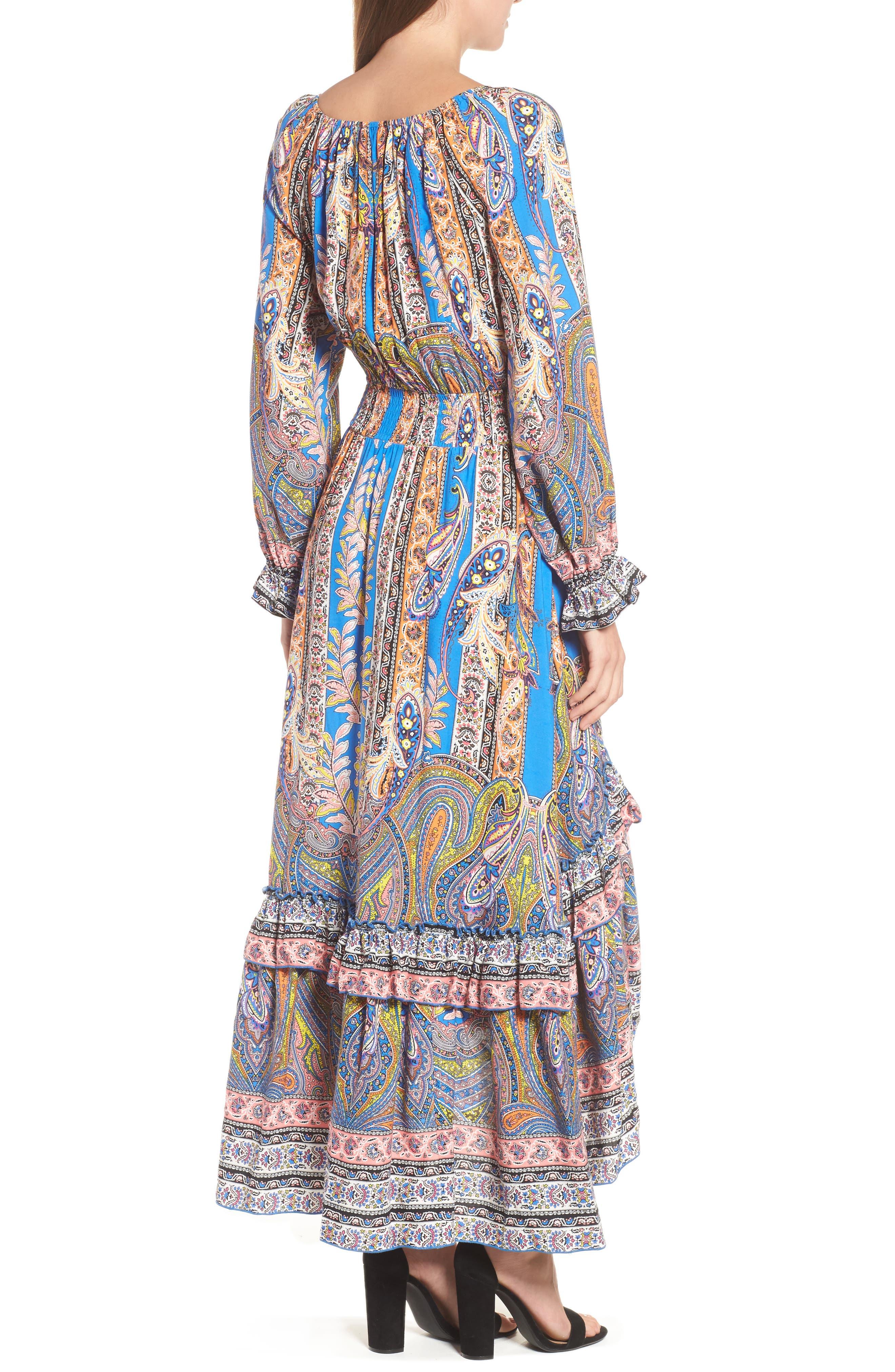 Ronda Paisley Print Maxi Dress,                             Alternate thumbnail 2, color,                             Pasiley Print