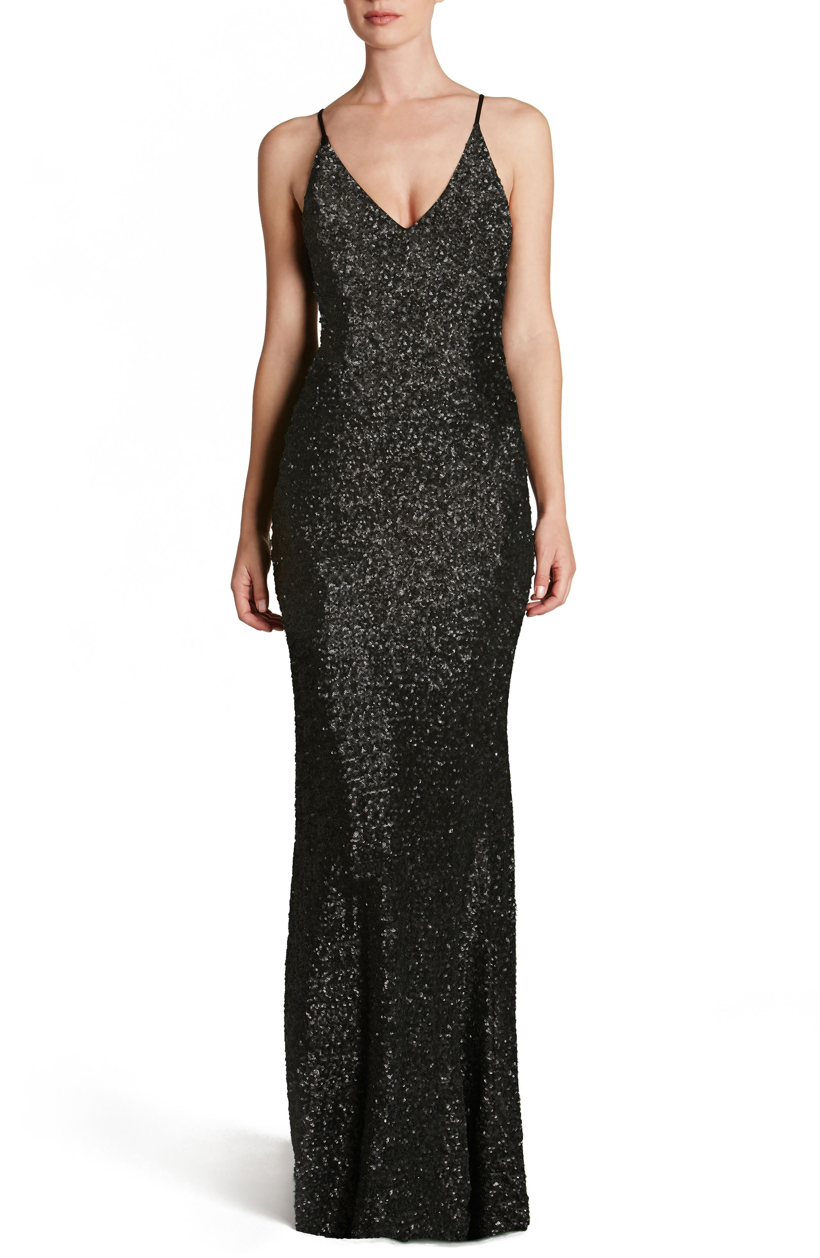 Main Image - Dress the Population Vanessa Sequin Gown