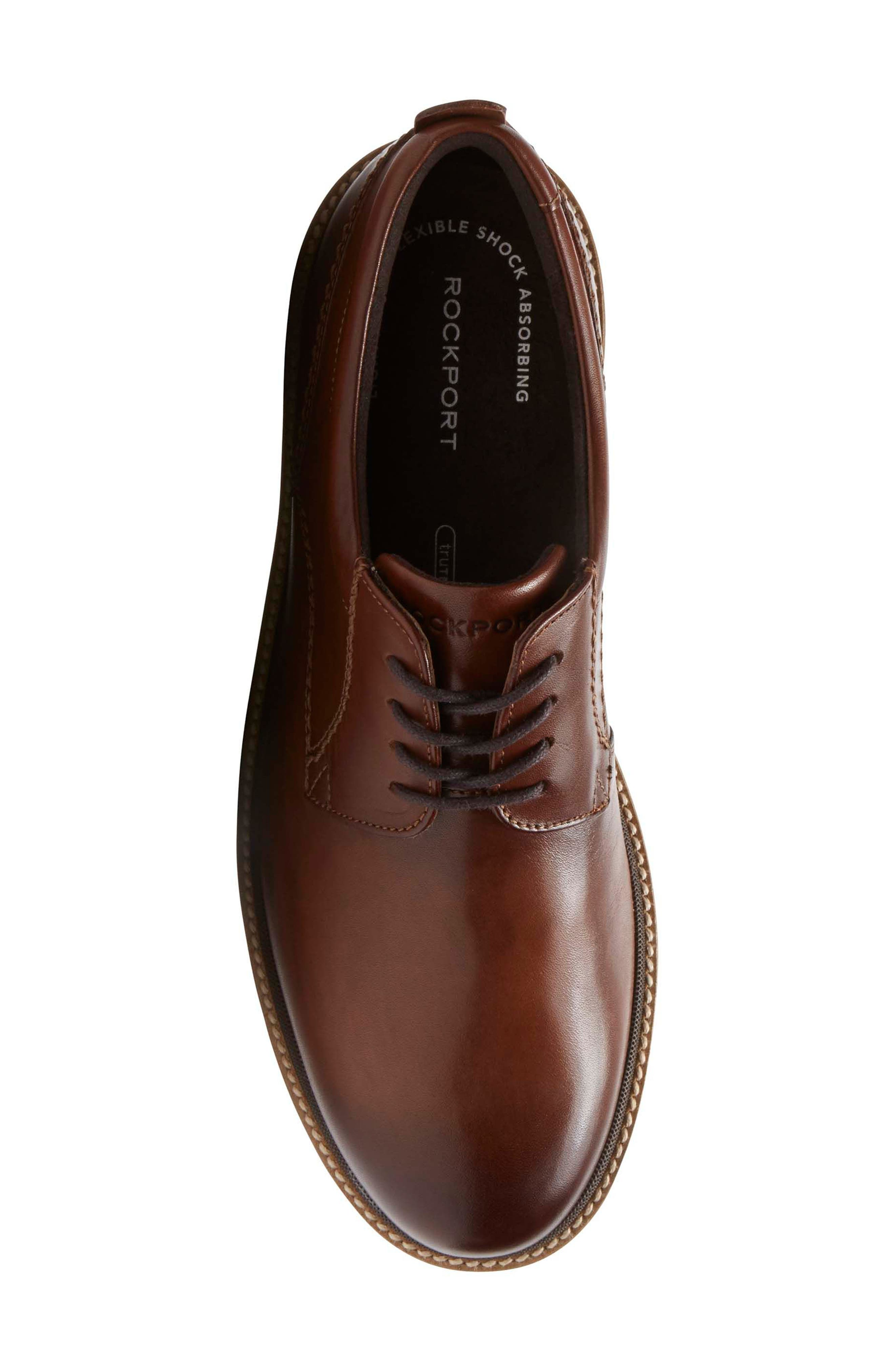 Marshall Buck Shoe,                             Alternate thumbnail 5, color,                             Dark Brown Leather