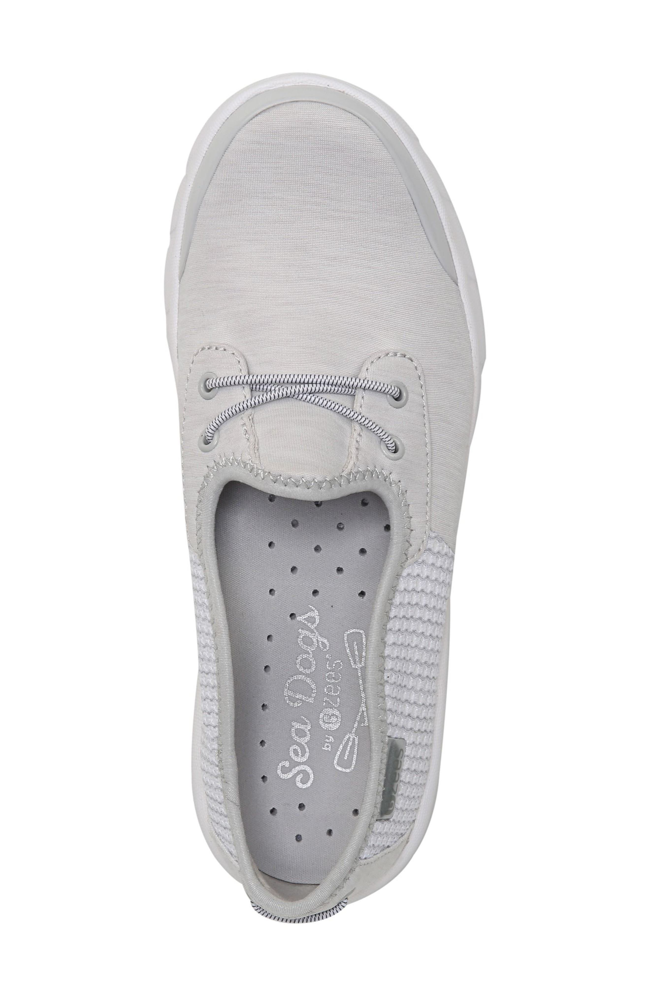 Oz Slip-On Sneaker,                             Alternate thumbnail 5, color,                             Grey Fabric