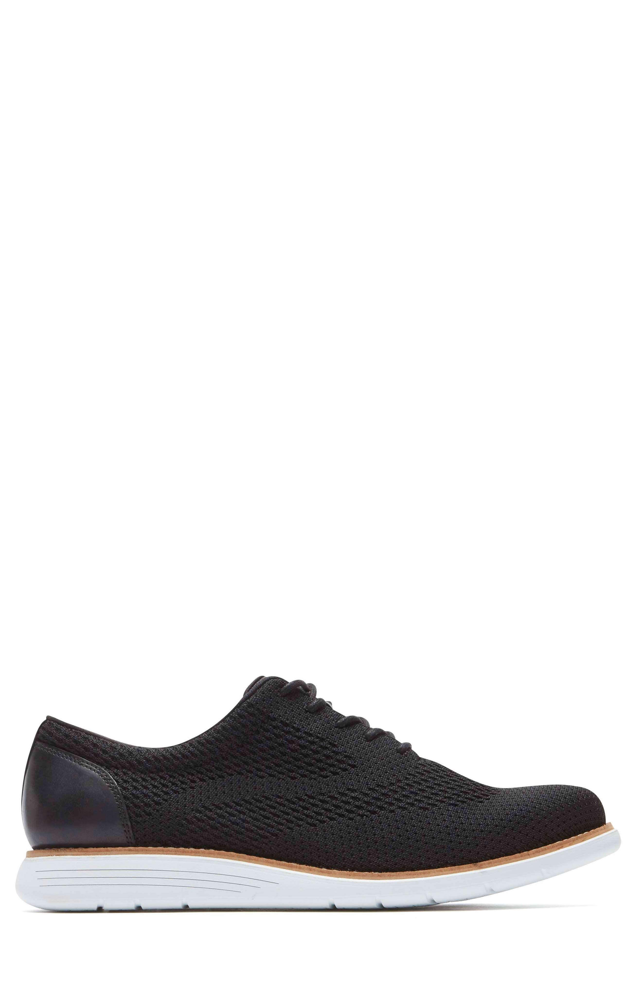 Total Motion Sport Oxford,                             Alternate thumbnail 3, color,                             Black Leather