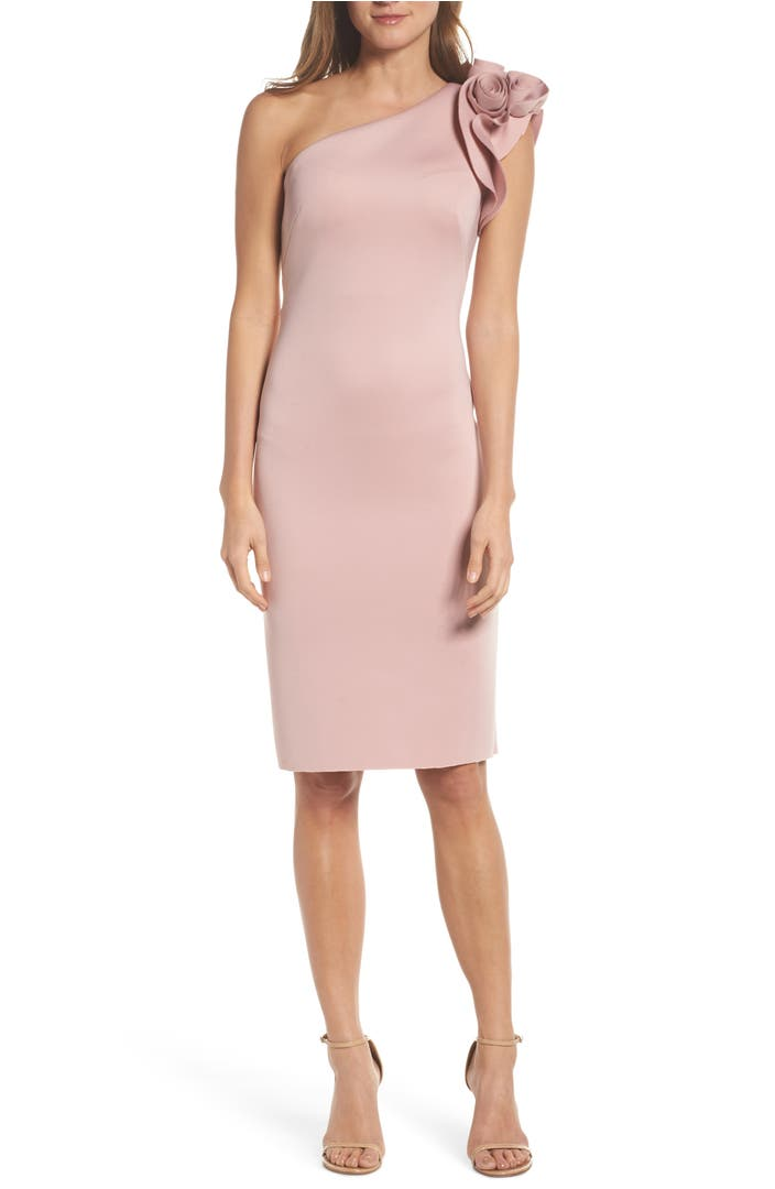 Main Image - Eliza J One-Shoulder Sheath Dress