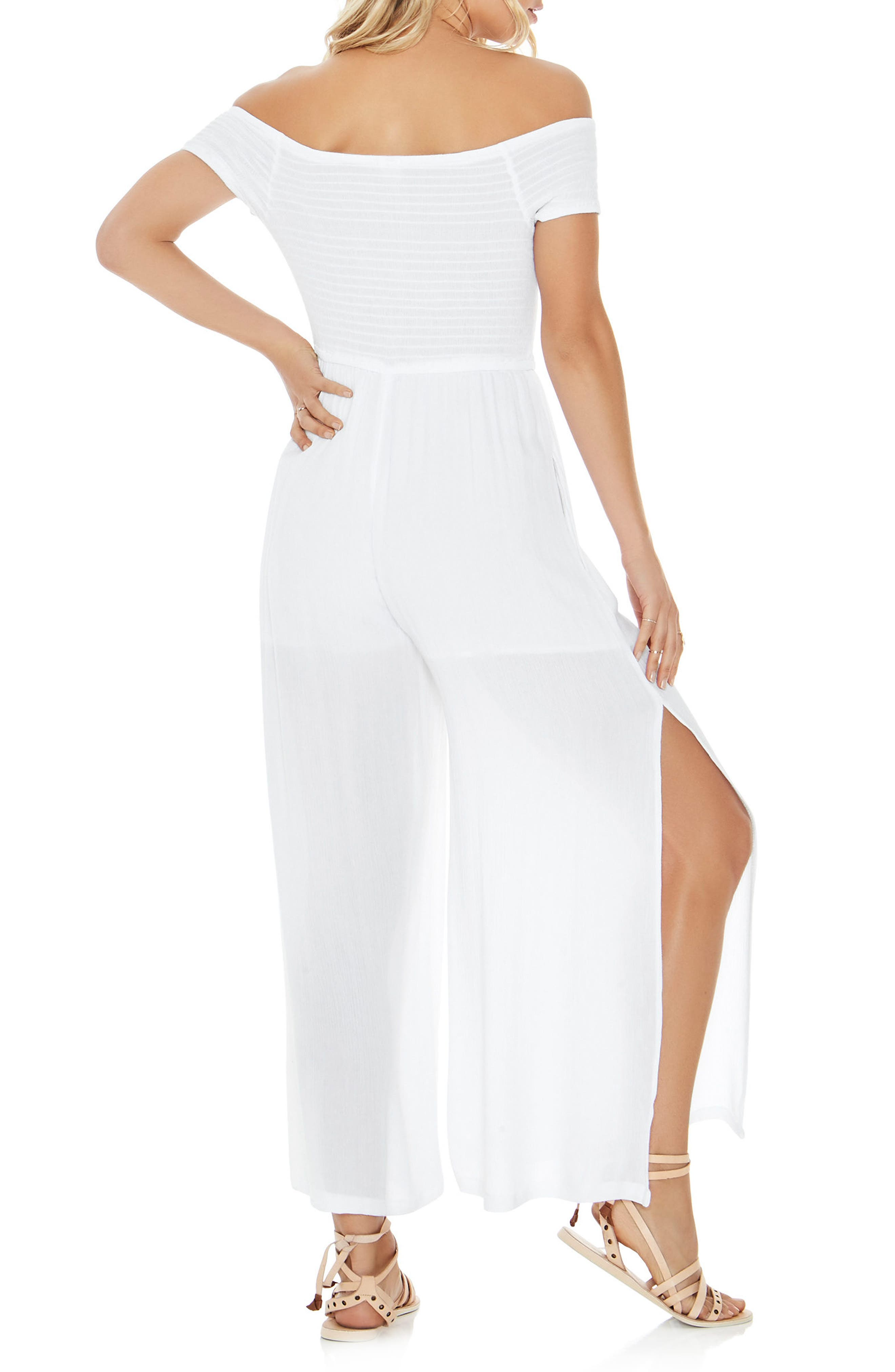 Sao Paulo Cover-Up Jumpsuit,                             Alternate thumbnail 2, color,                             White