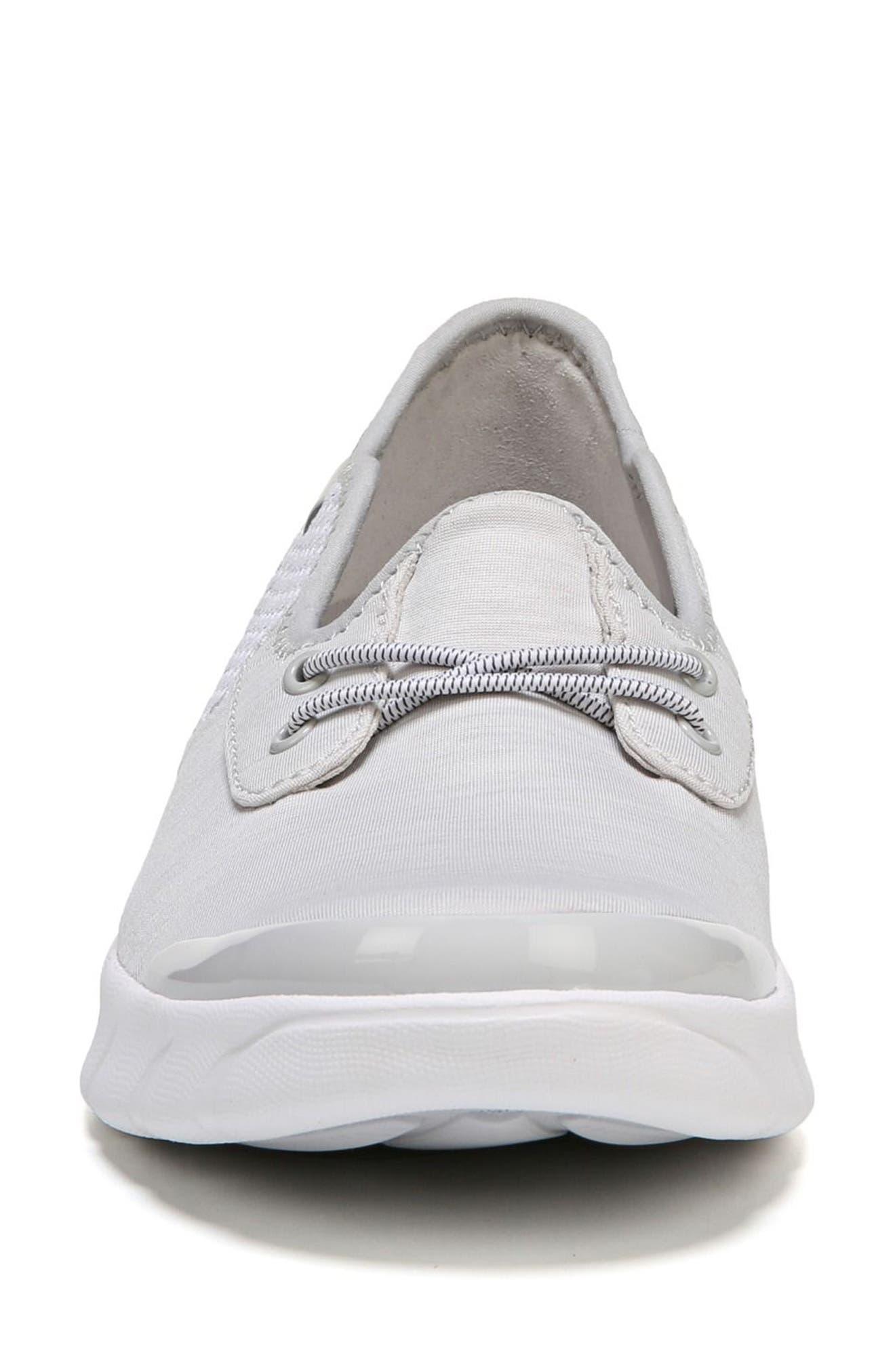 Oz Slip-On Sneaker,                             Alternate thumbnail 4, color,                             Grey Fabric