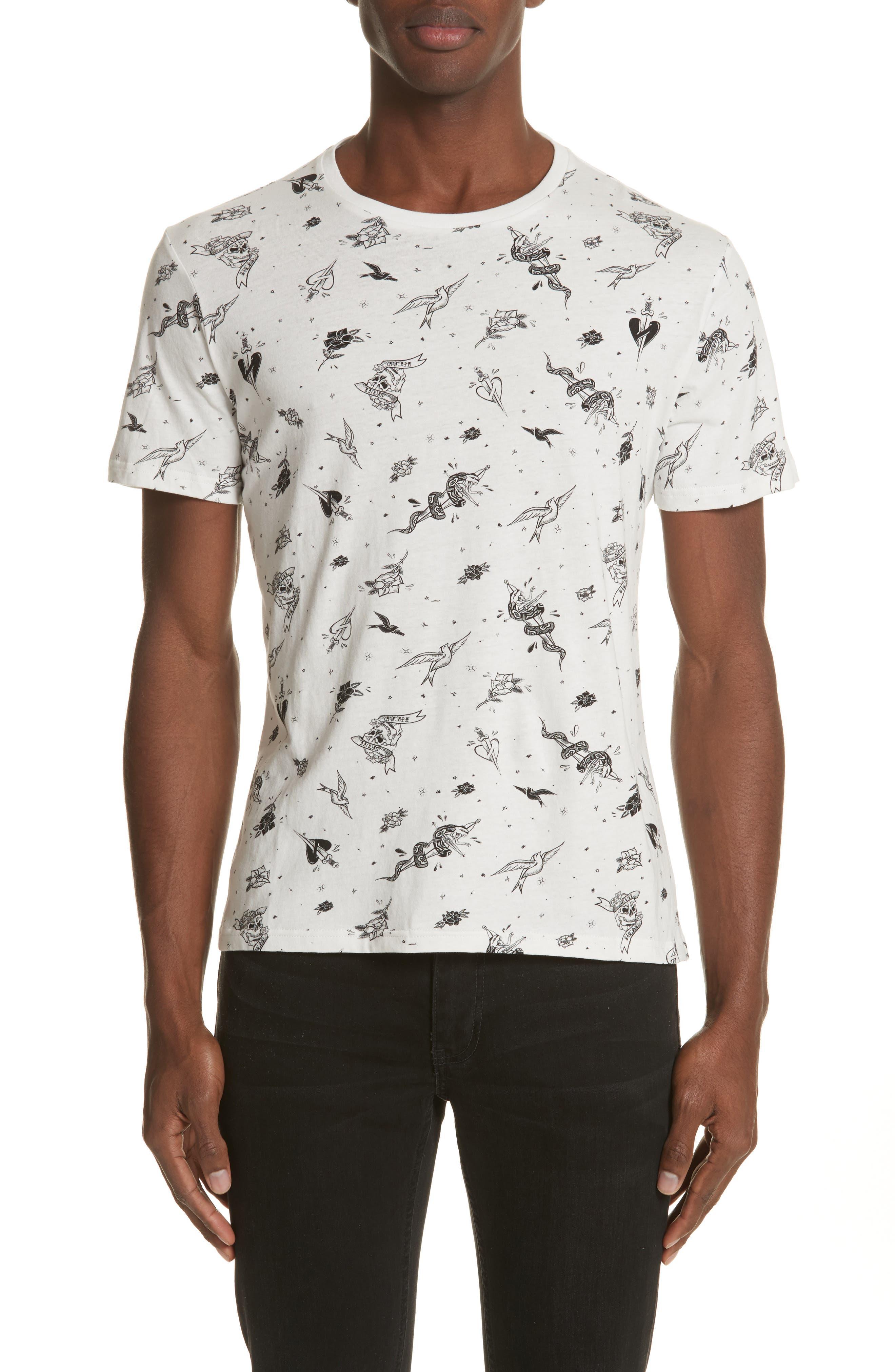 The Kooples Tattoo Print T-Shirt