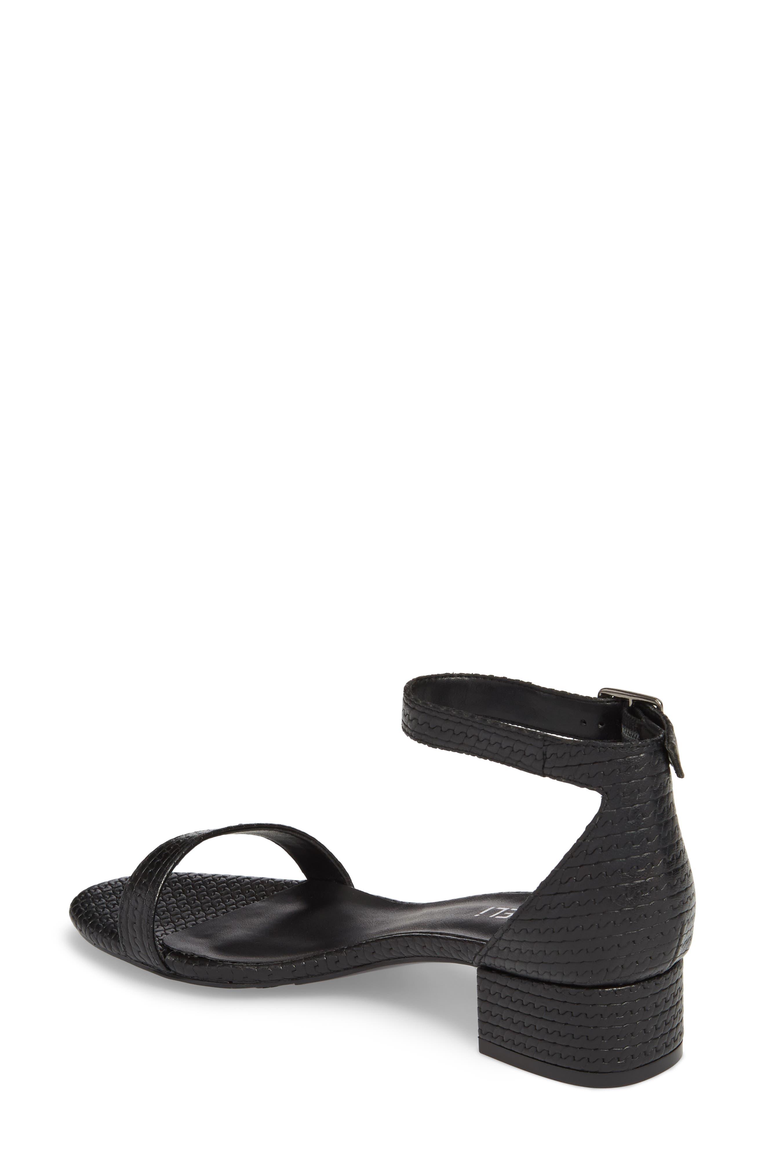 Hirin Sandal,                             Alternate thumbnail 2, color,                             Black Printed Leather