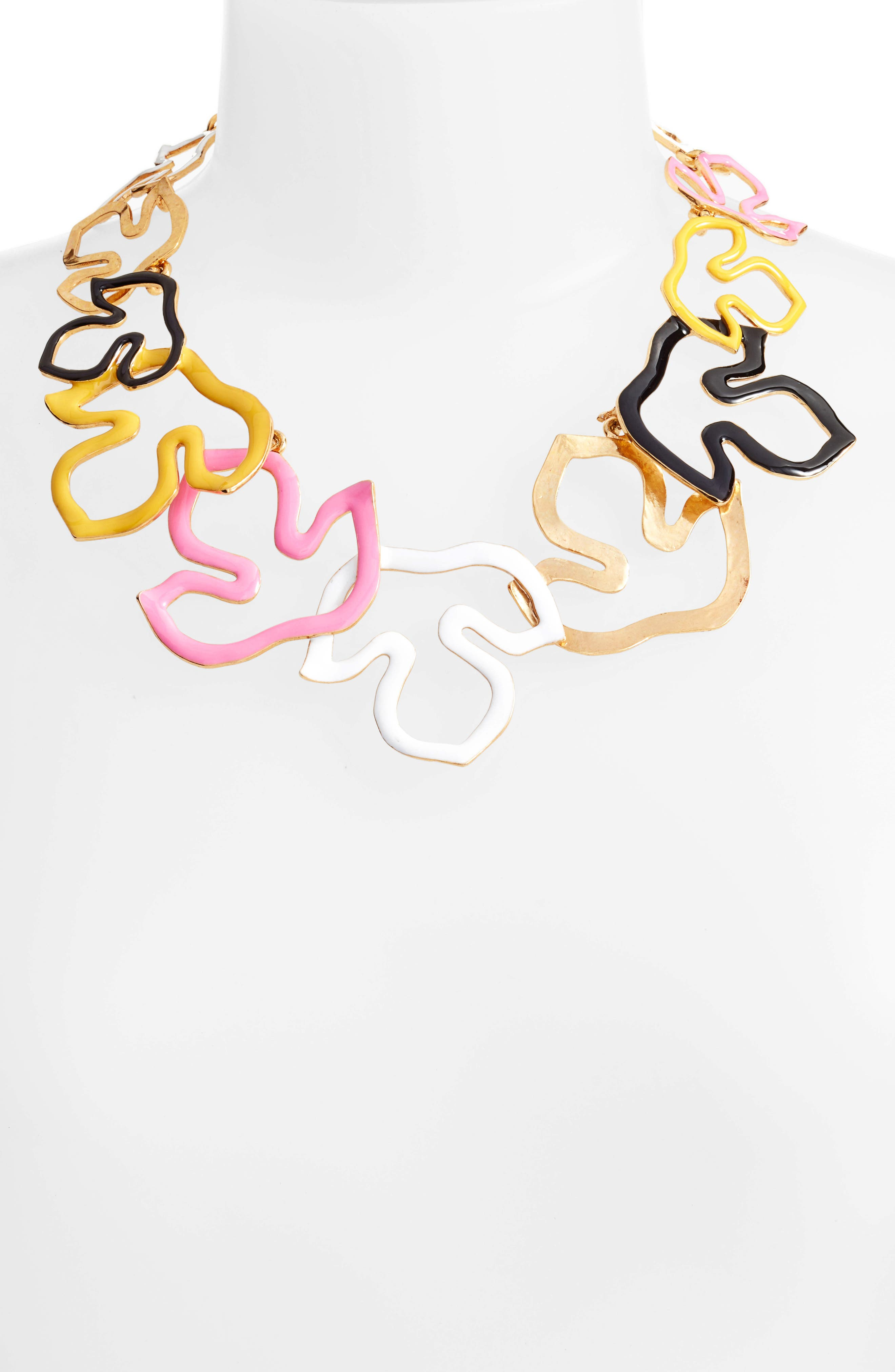 Openwork Collar Necklace,                             Alternate thumbnail 2, color,                             Multi/ Gold