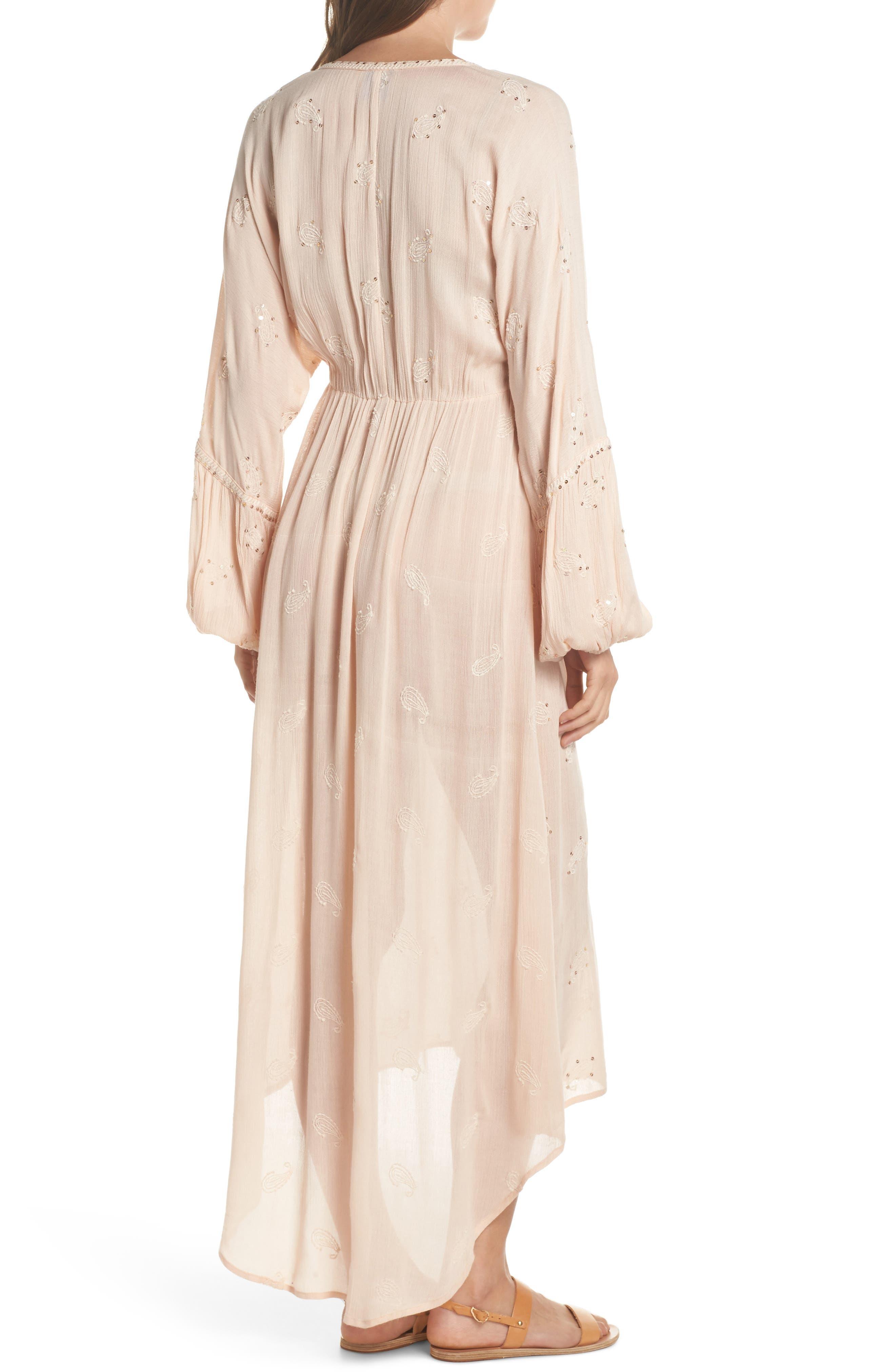 Mercer Cover-Up Maxi Dress,                             Alternate thumbnail 2, color,                             Blush