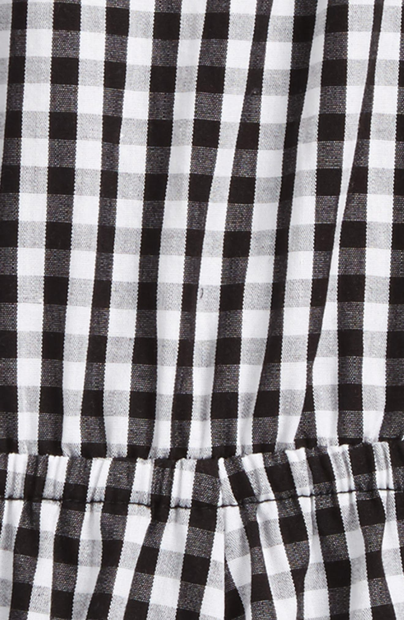 Gingham Romper,                             Alternate thumbnail 2, color,                             Black-Whbcgm-Ginggham-Whbcgm