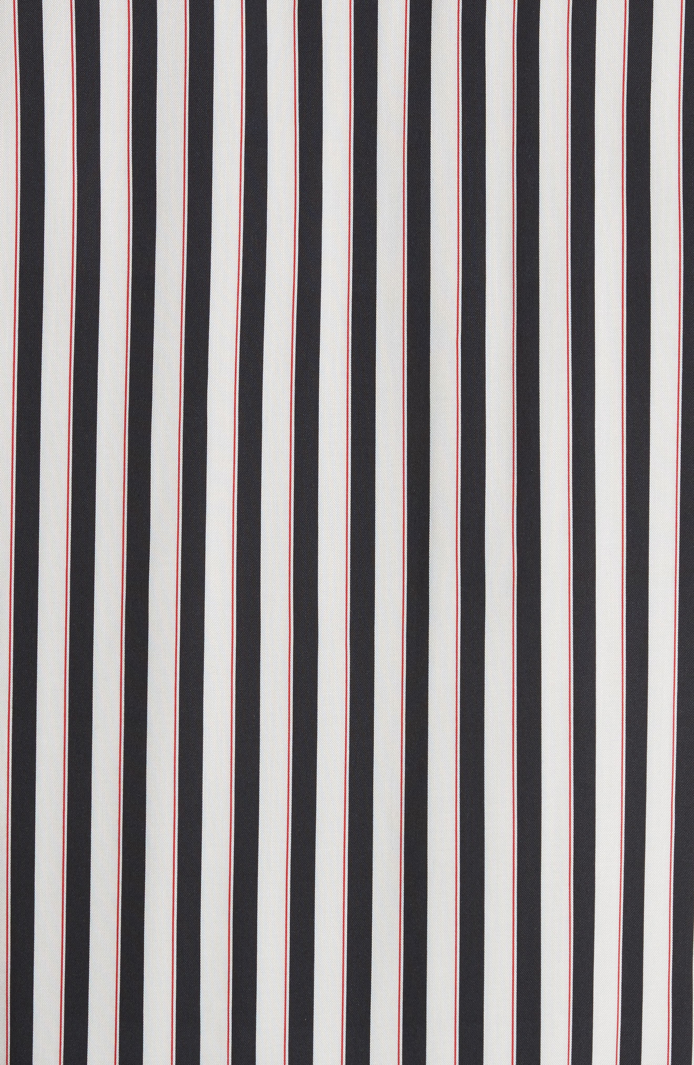 Stripe Camp Shirt,                             Alternate thumbnail 5, color,                             Whi 09