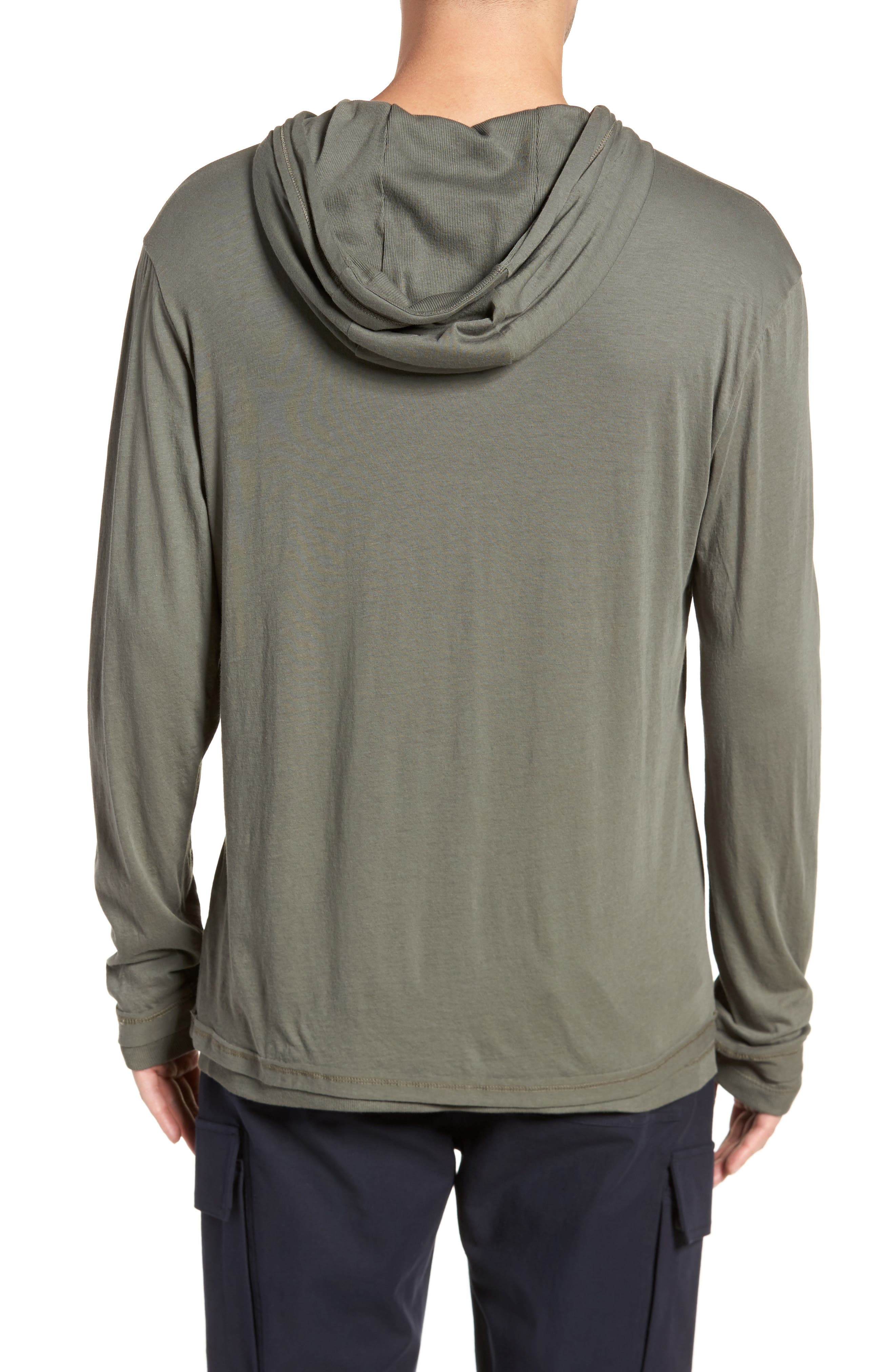 Double Layer Hoodie,                             Alternate thumbnail 2, color,                             Pine