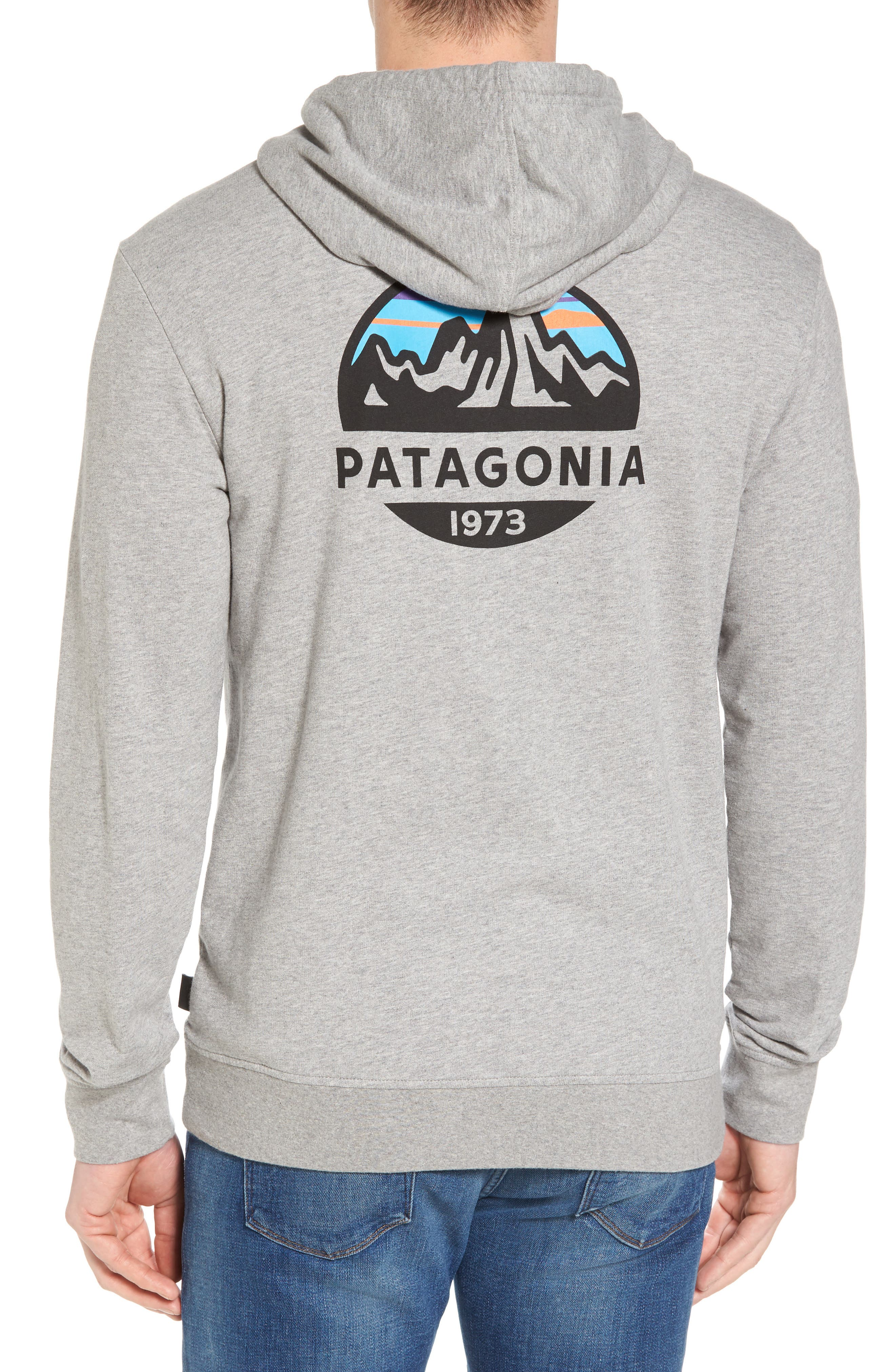Fitz Roy Frostbite PolyCycle<sup>®</sup> Full Zip Hoodie,                             Alternate thumbnail 2, color,                             Feather Grey