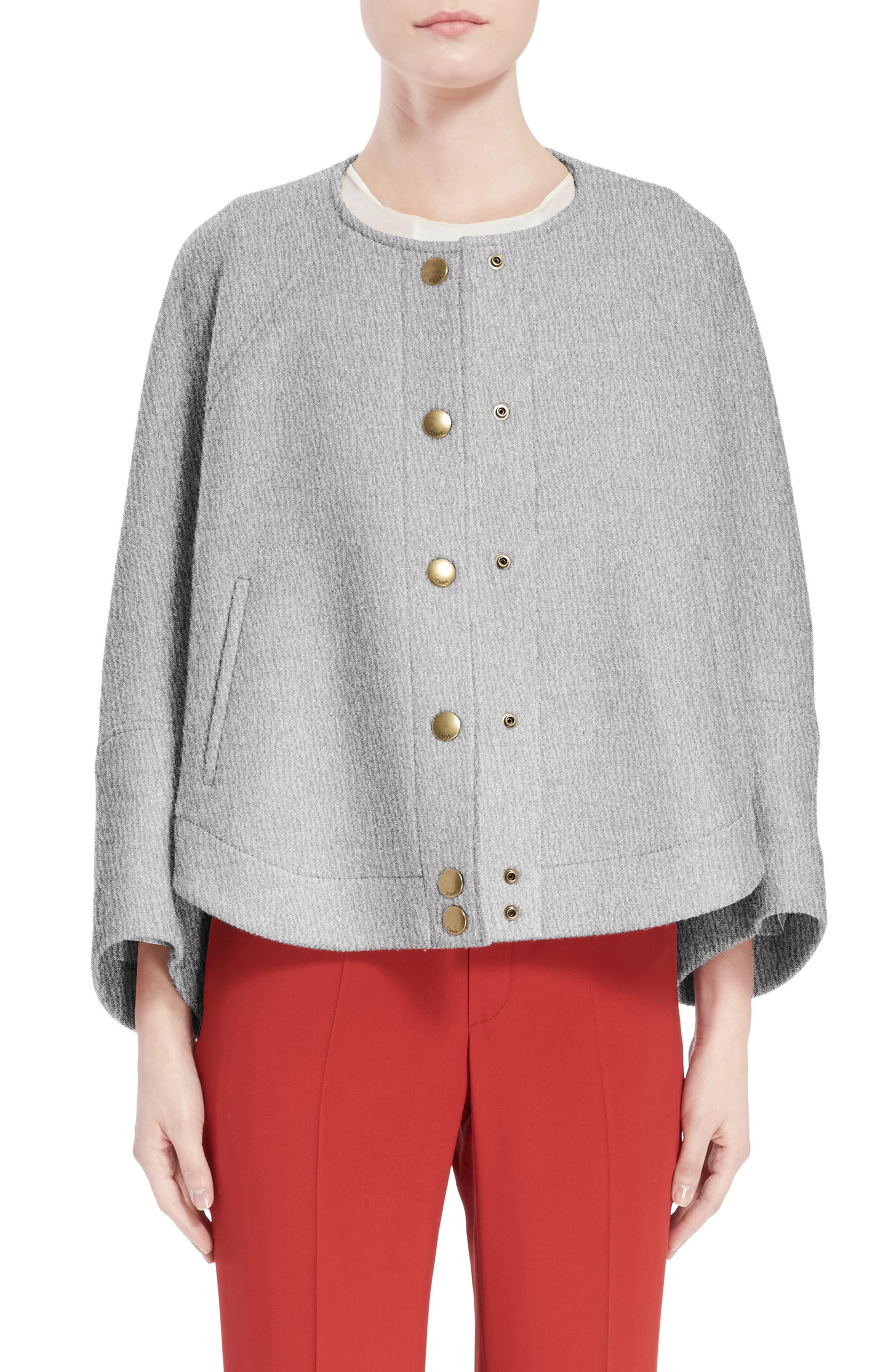 Main Image - Chloé Wool Blend Baseball Jacket