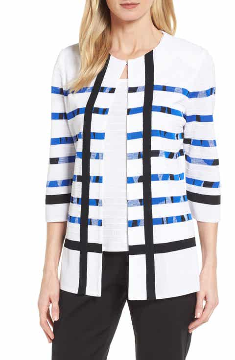 Ming Wang Stripe Cardigan