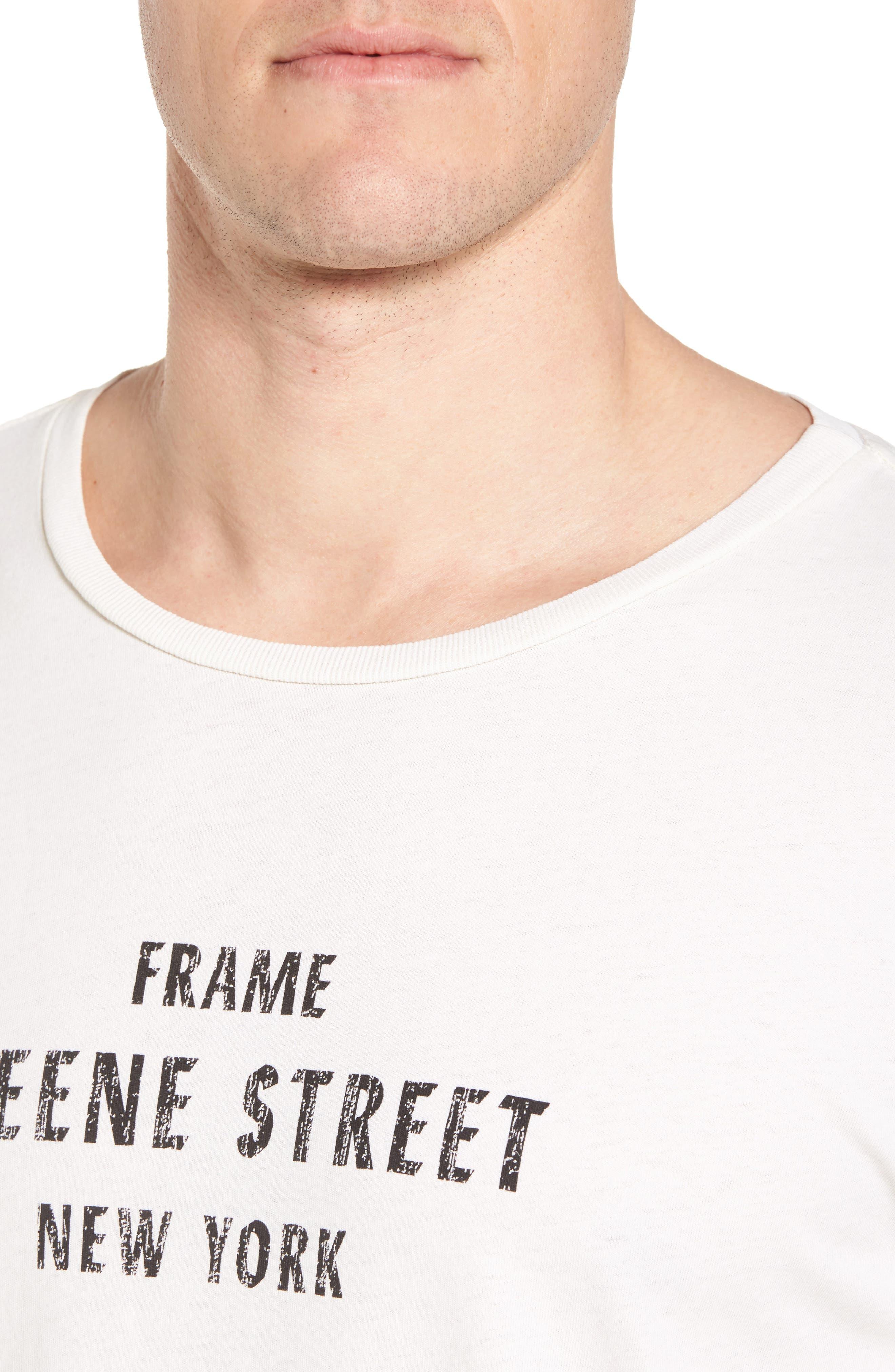 Greene Street Vintage Graphic T-Shirt,                             Alternate thumbnail 4, color,                             Off White