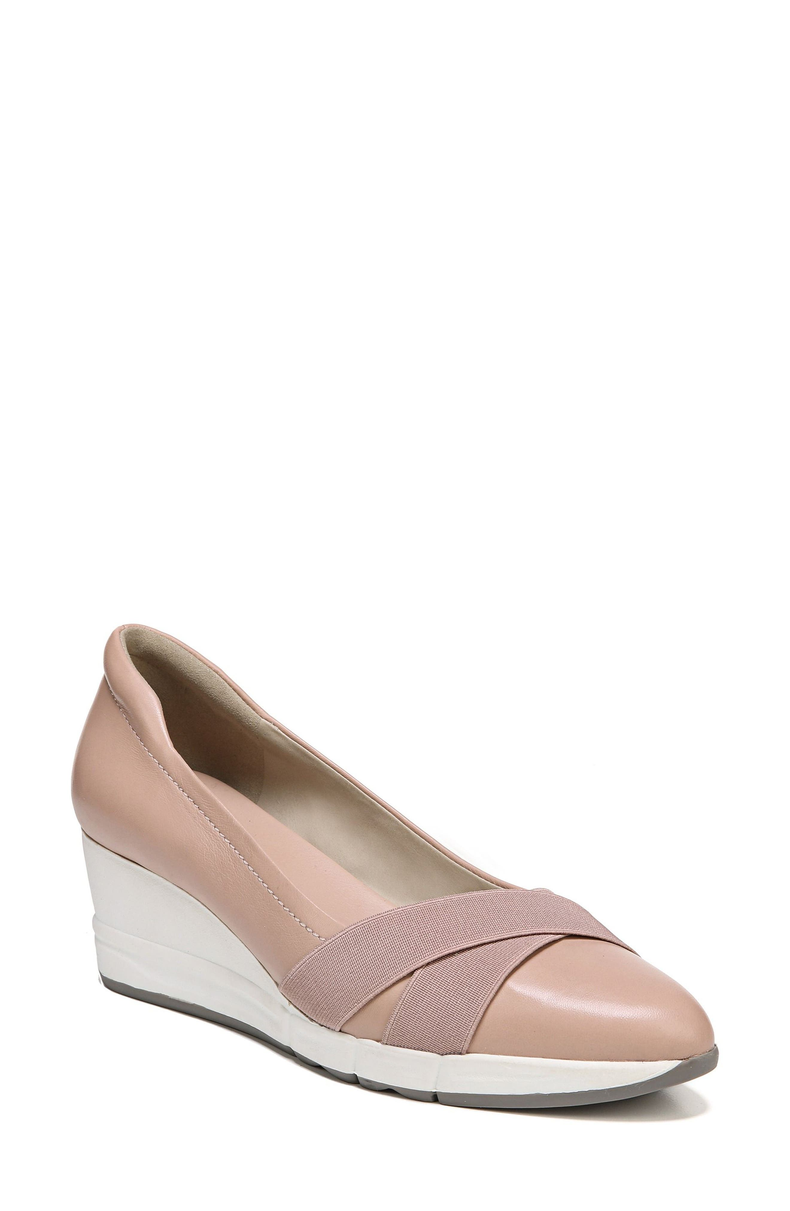 Harlyn Wedge Pump,                         Main,                         color, Mauve Leather