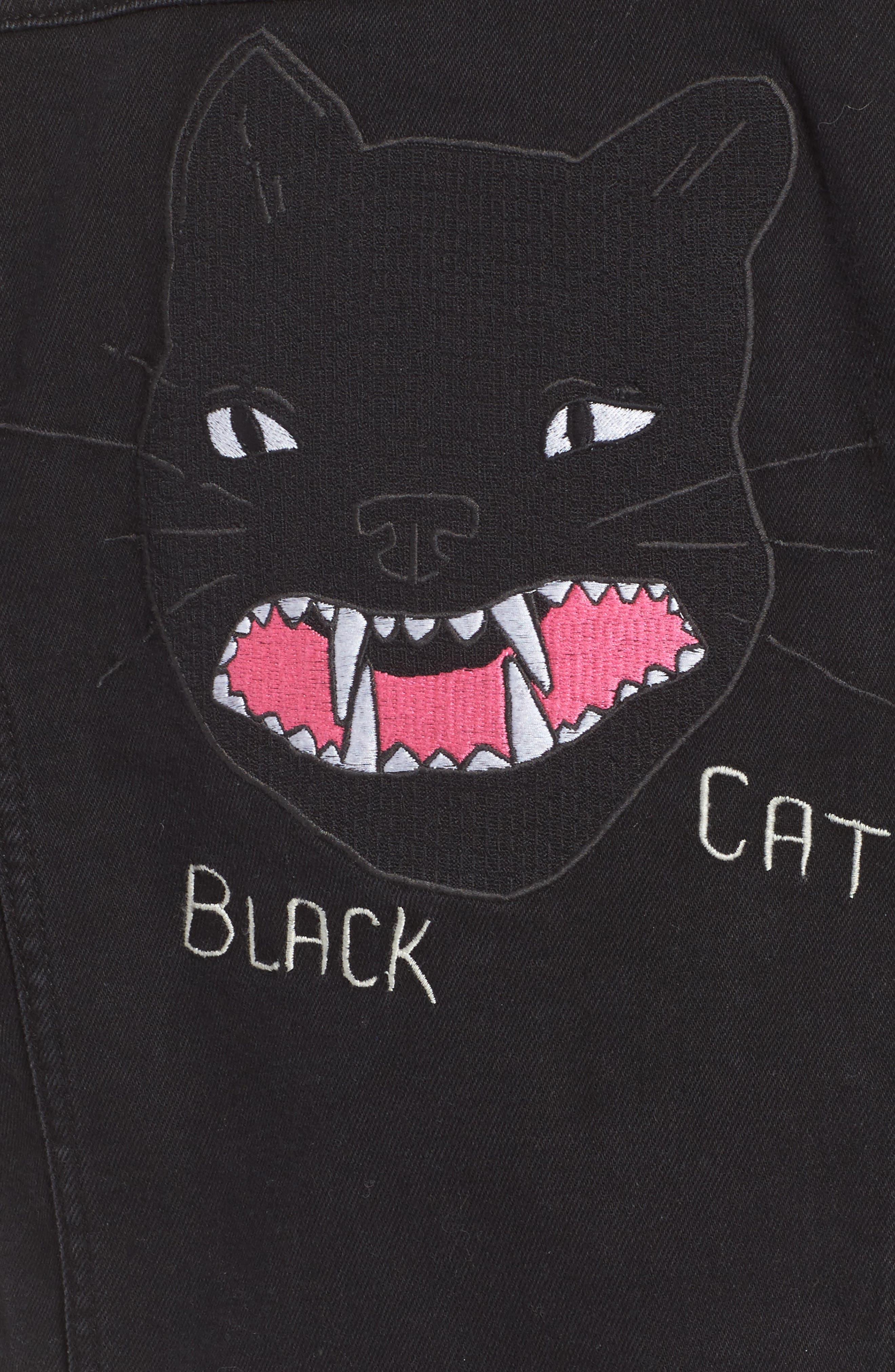 Kioko Cat Jacket,                             Alternate thumbnail 5, color,                             Black