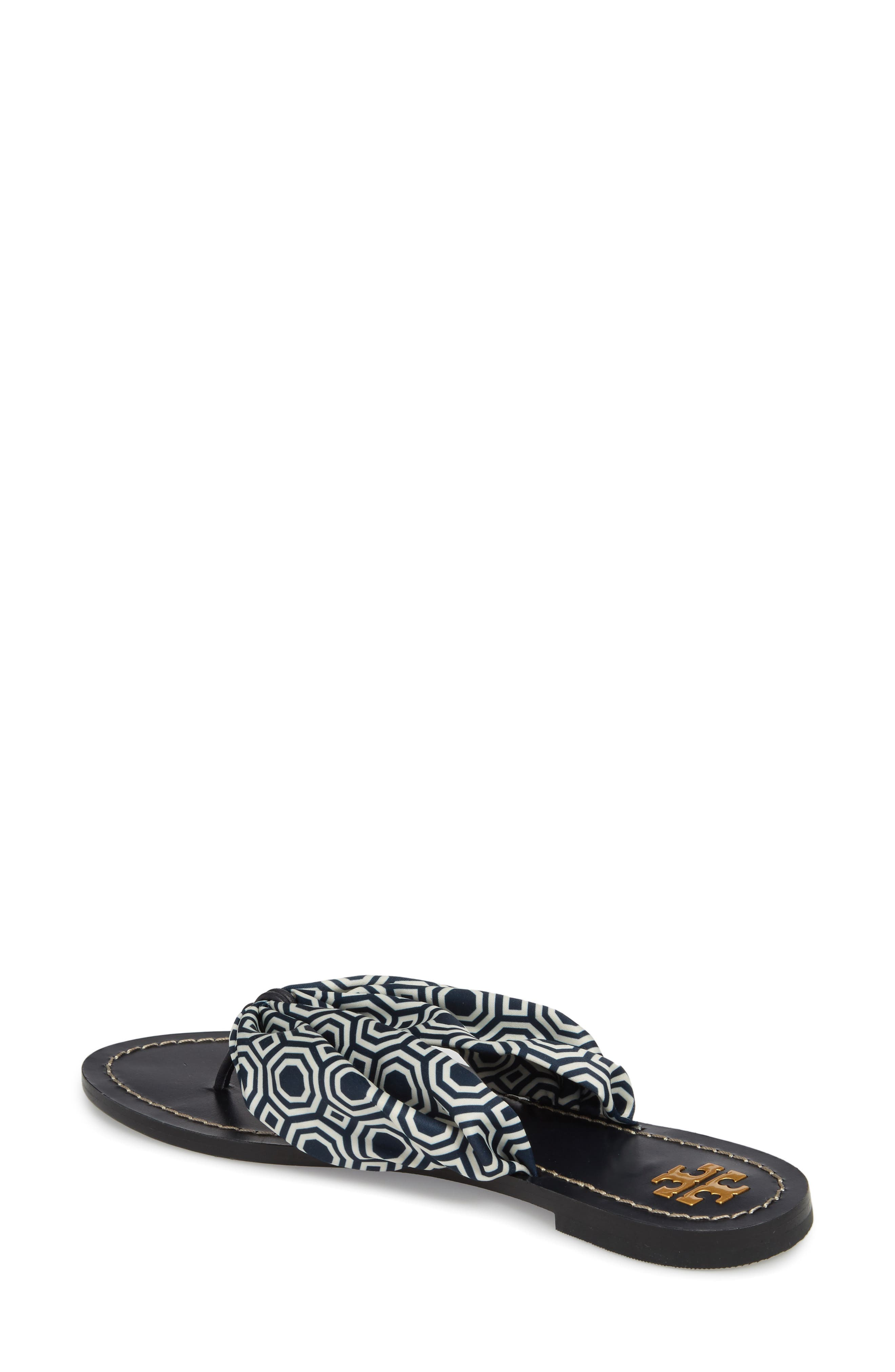 Carson Flip Flop,                             Alternate thumbnail 2, color,                             Tory Navy Octagon Square