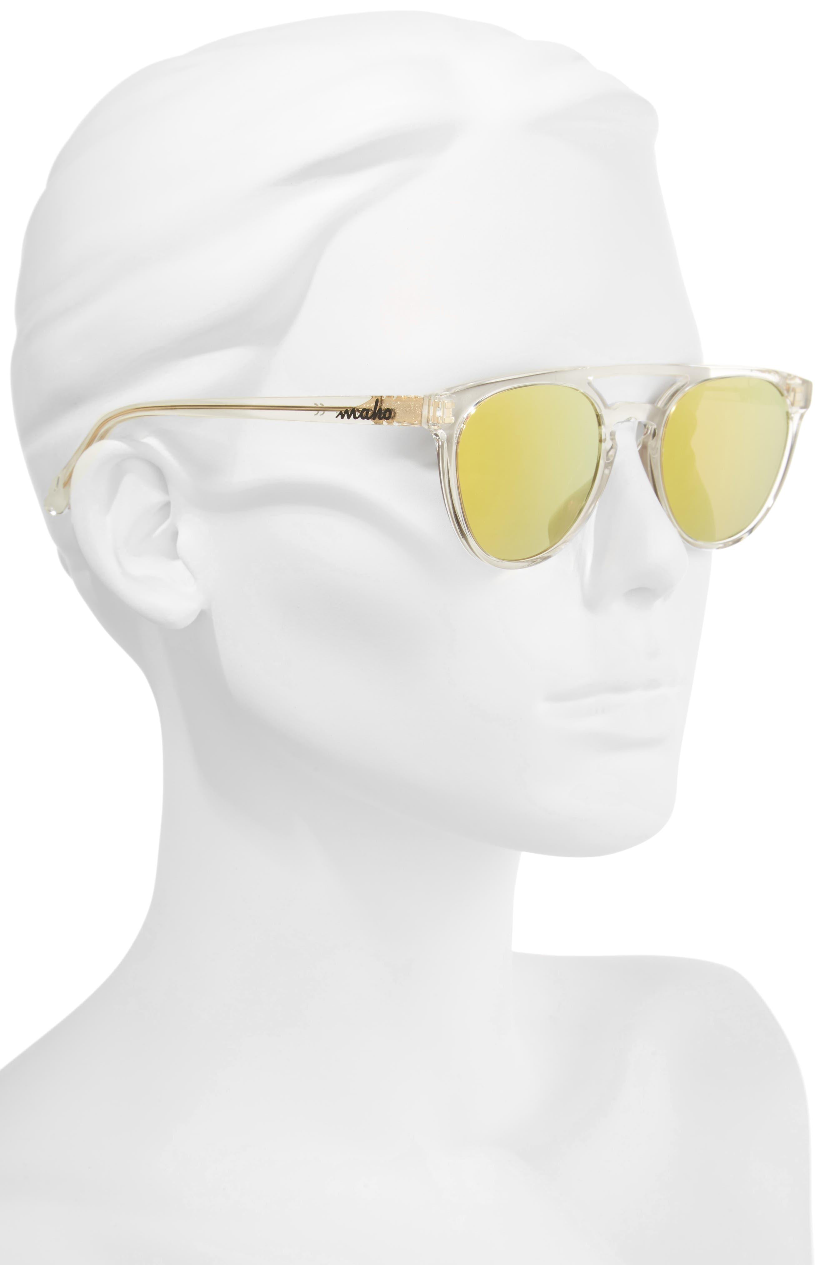Alternate Image 2  - Maho Reykjavík 49mm Polarized Round Sunglasses