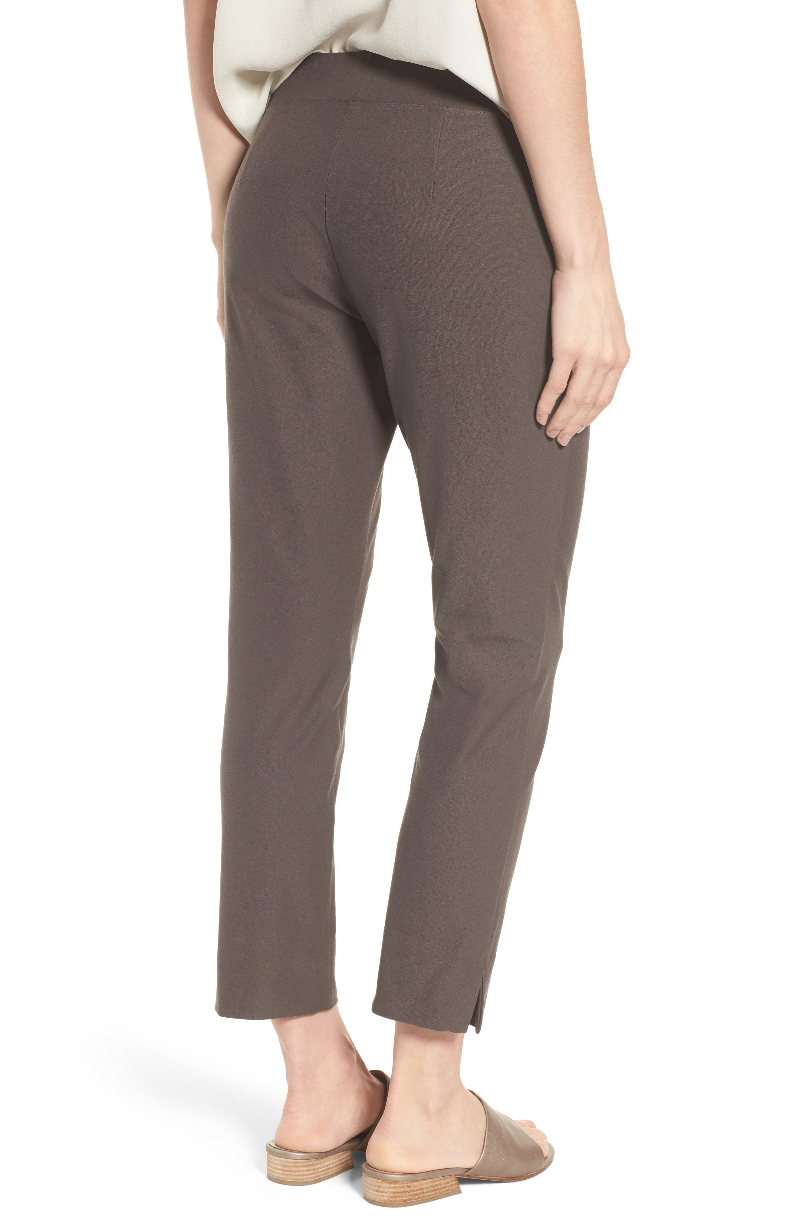 Notch Cuff Slim Crop Pants,                             Alternate thumbnail 2, color,                             Rye