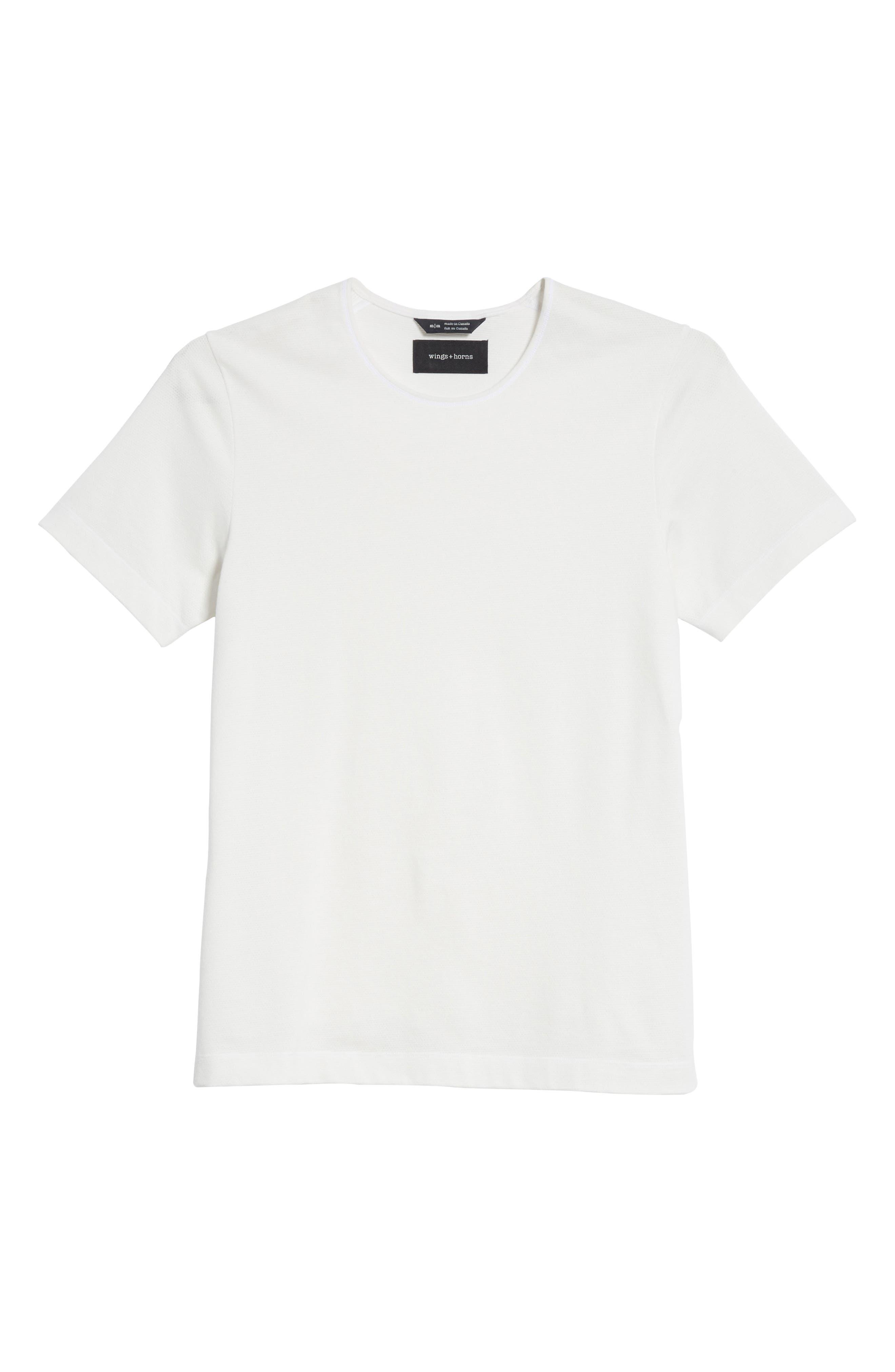 Alternate Image 6  - wings + horns Mesh Jersey T-Shirt