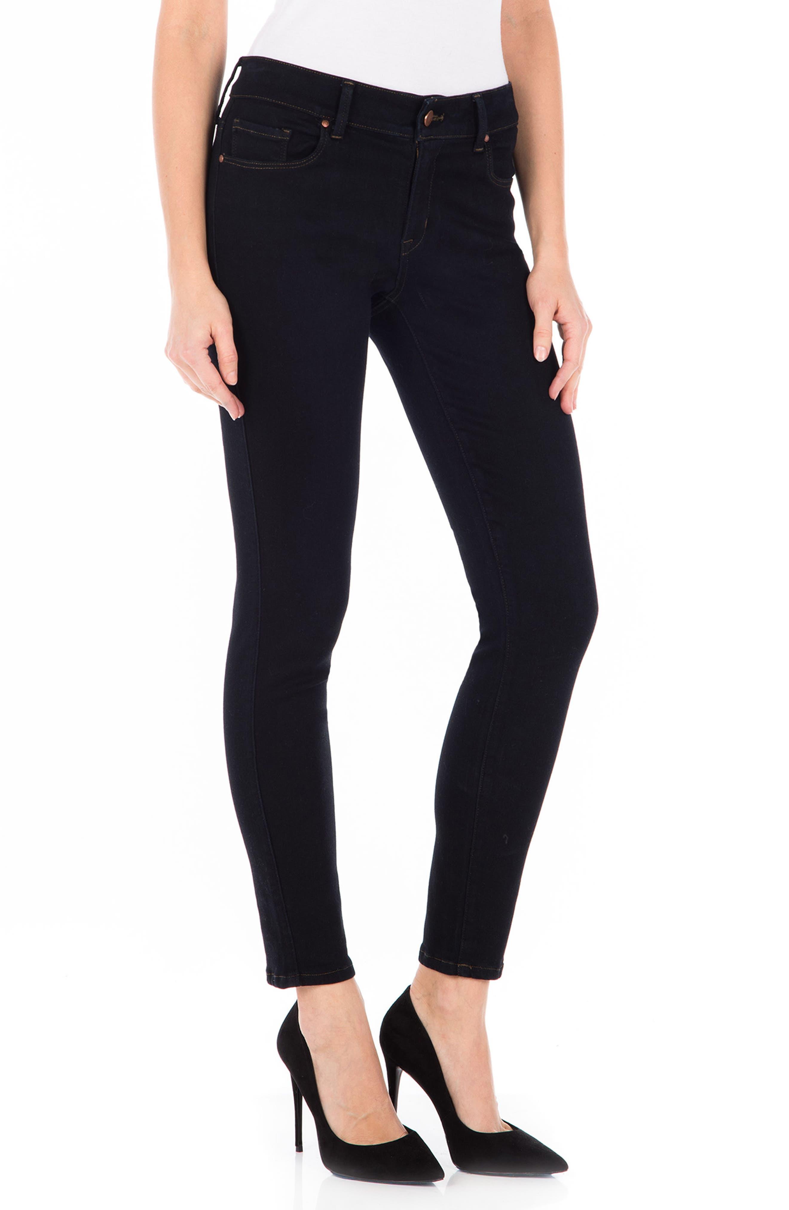 Sola Skinny Jeans,                             Alternate thumbnail 3, color,                             Navy Noir