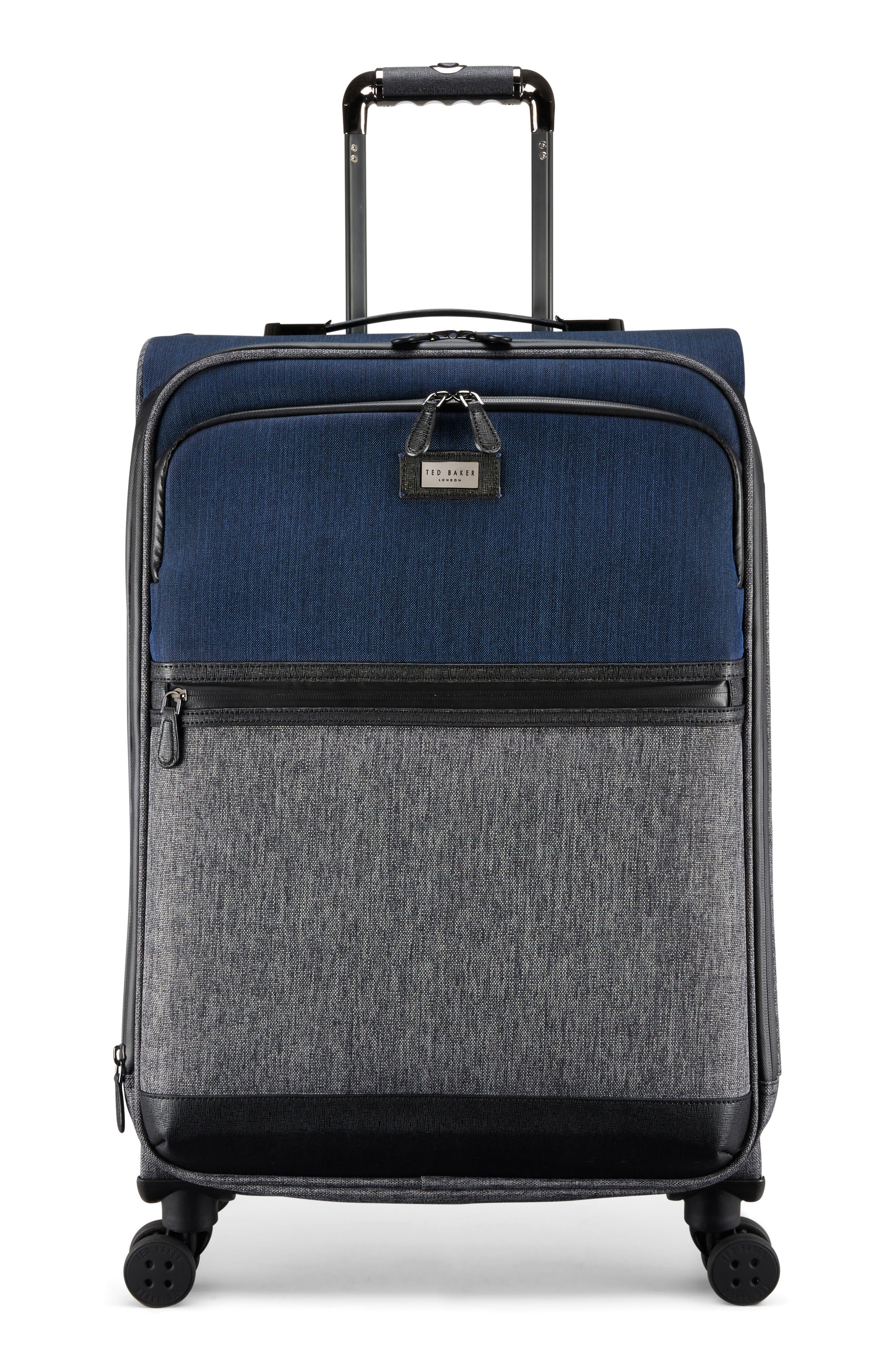 Brunswick 27-Inch Rolling Suitcase,                             Main thumbnail 1, color,                             Grey