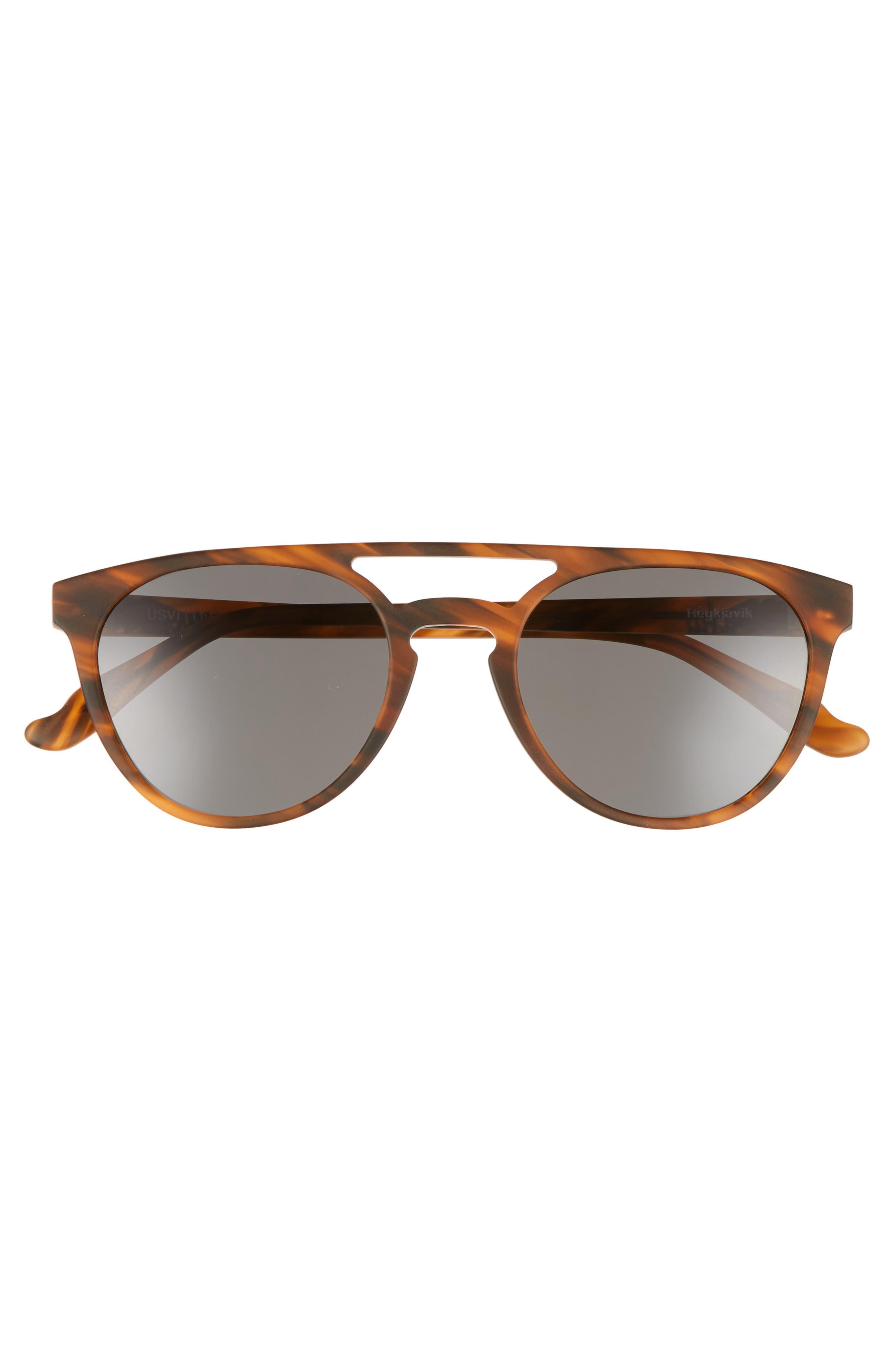 Reykjavík 49mm Polarized Round Sunglasses,                             Alternate thumbnail 3, color,                             Whisky