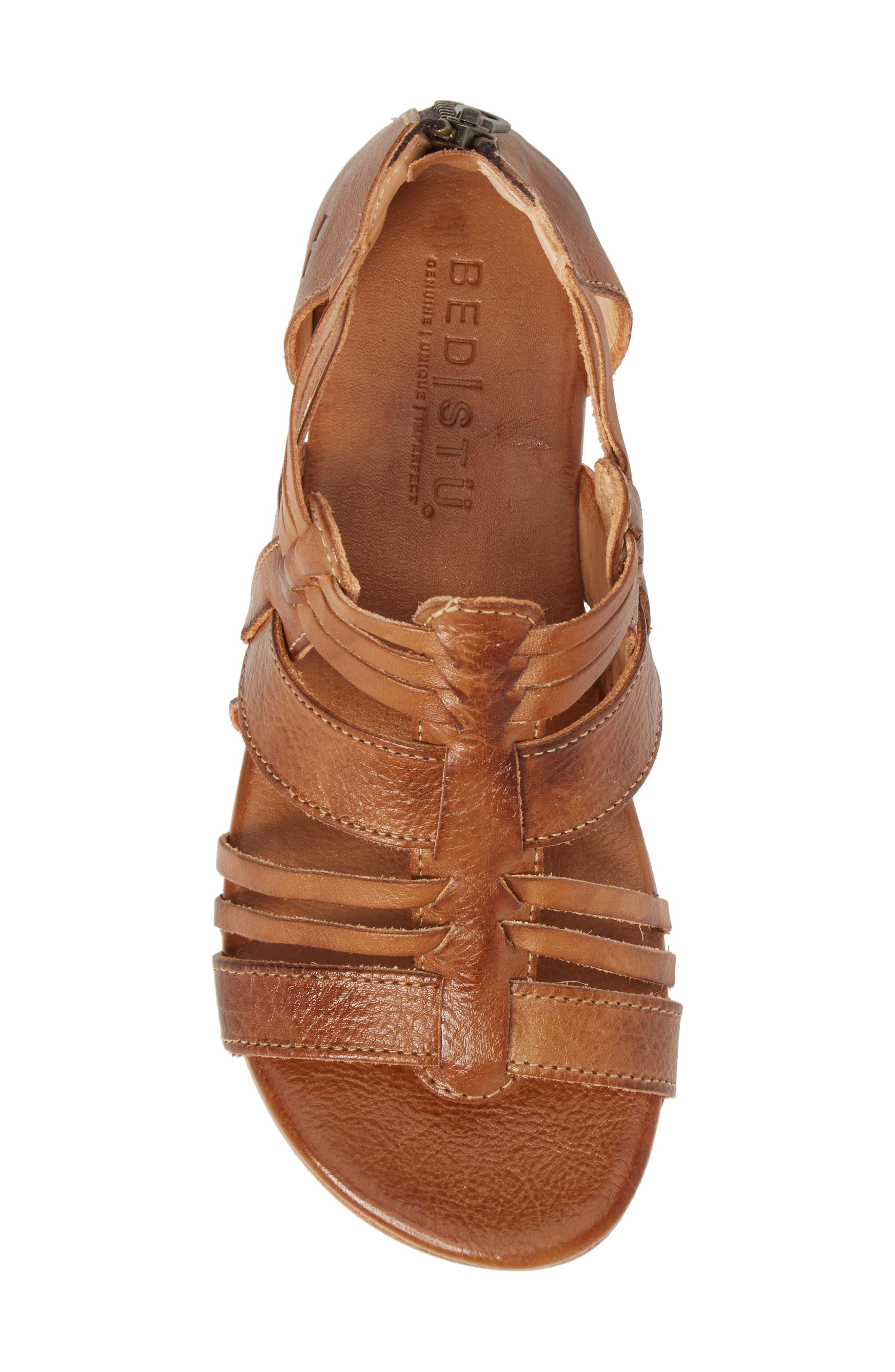 Cara Sandal,                             Alternate thumbnail 5, color,                             Tan Leather