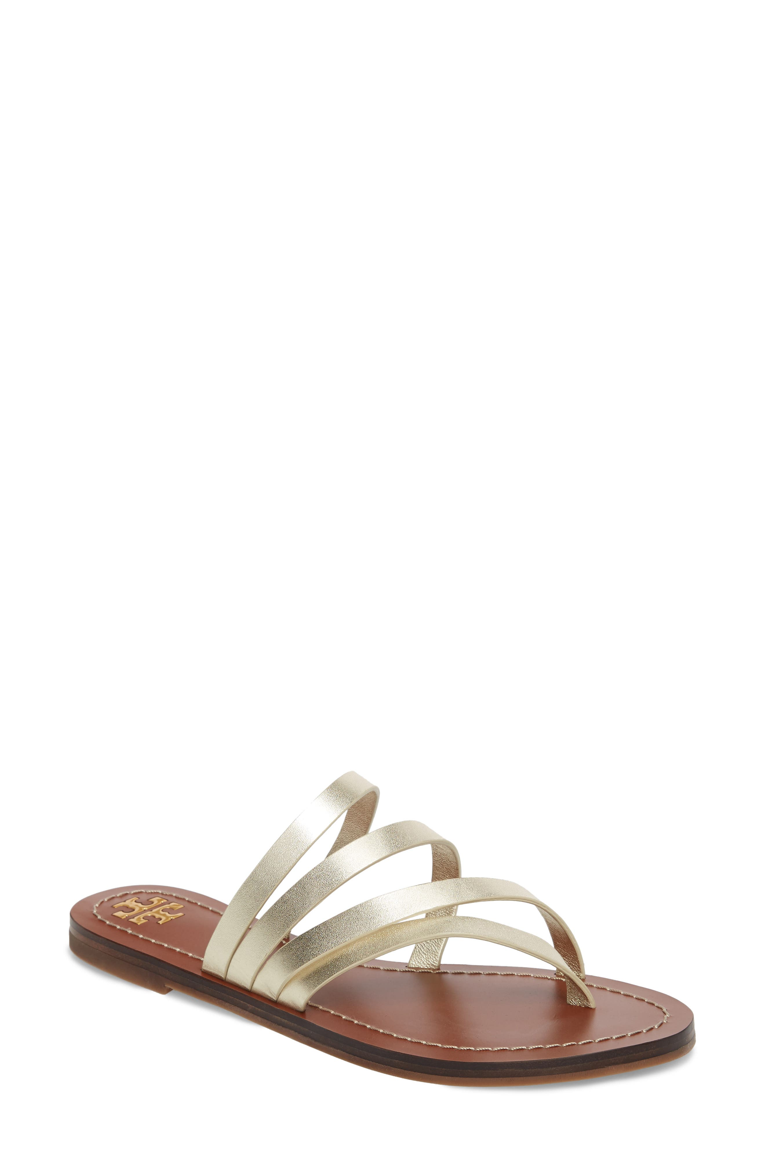 Patos Sandal,                             Main thumbnail 1, color,                             Spark Gold