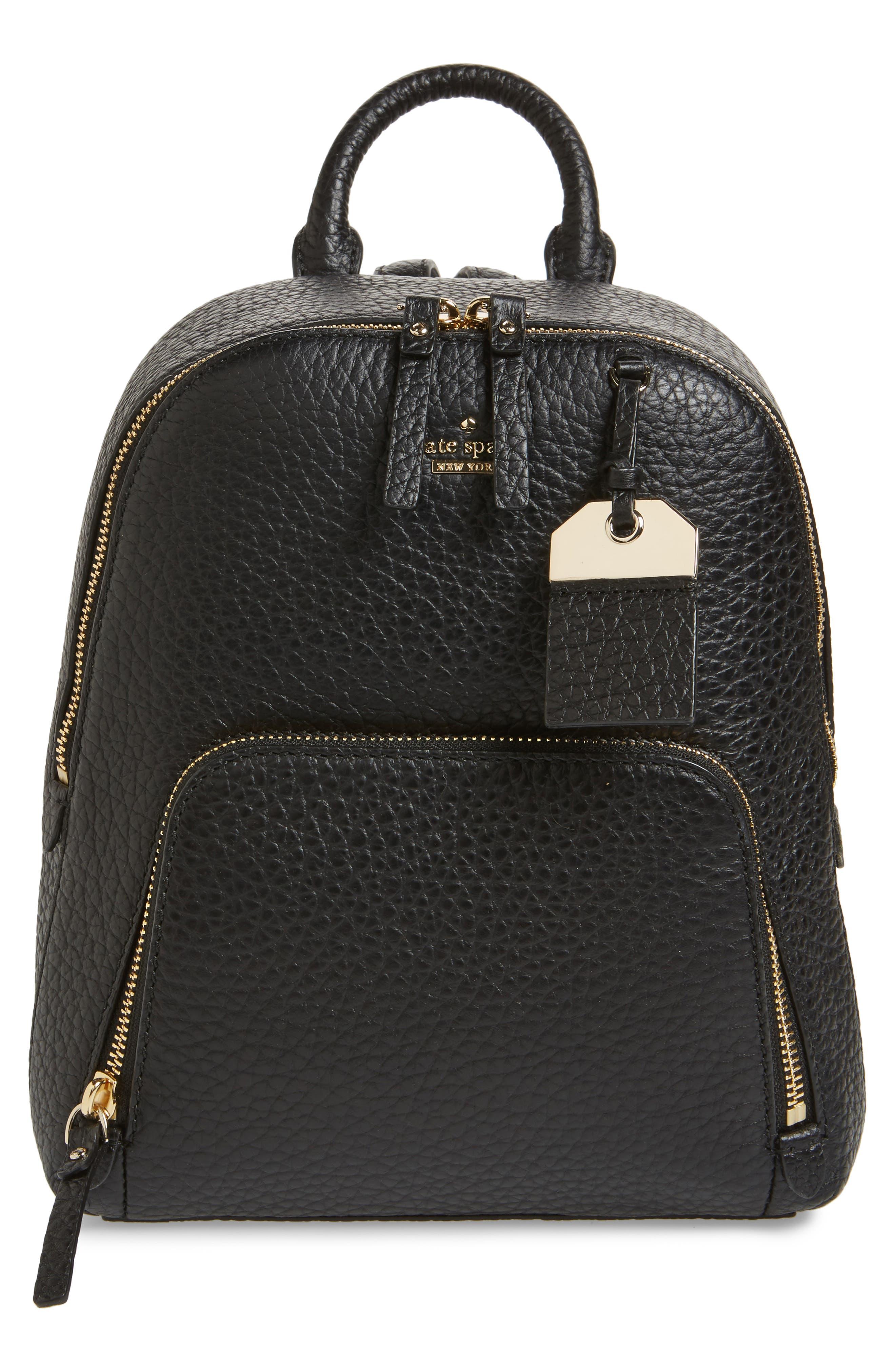 carter street - caden leather backpack,                         Main,                         color, Black
