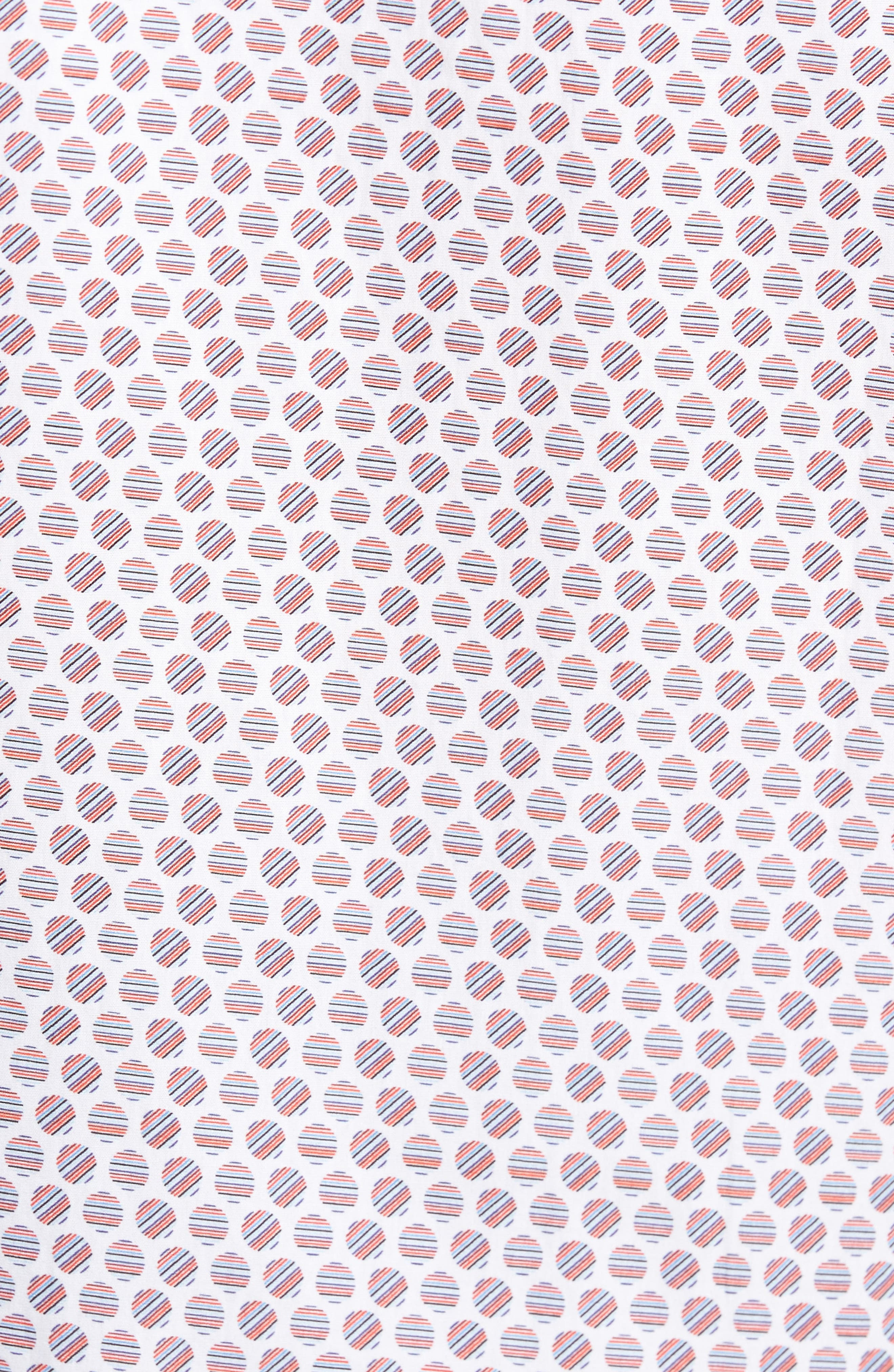 Slim Fit Circle Print Sport Shirt,                             Alternate thumbnail 5, color,                             Pimento