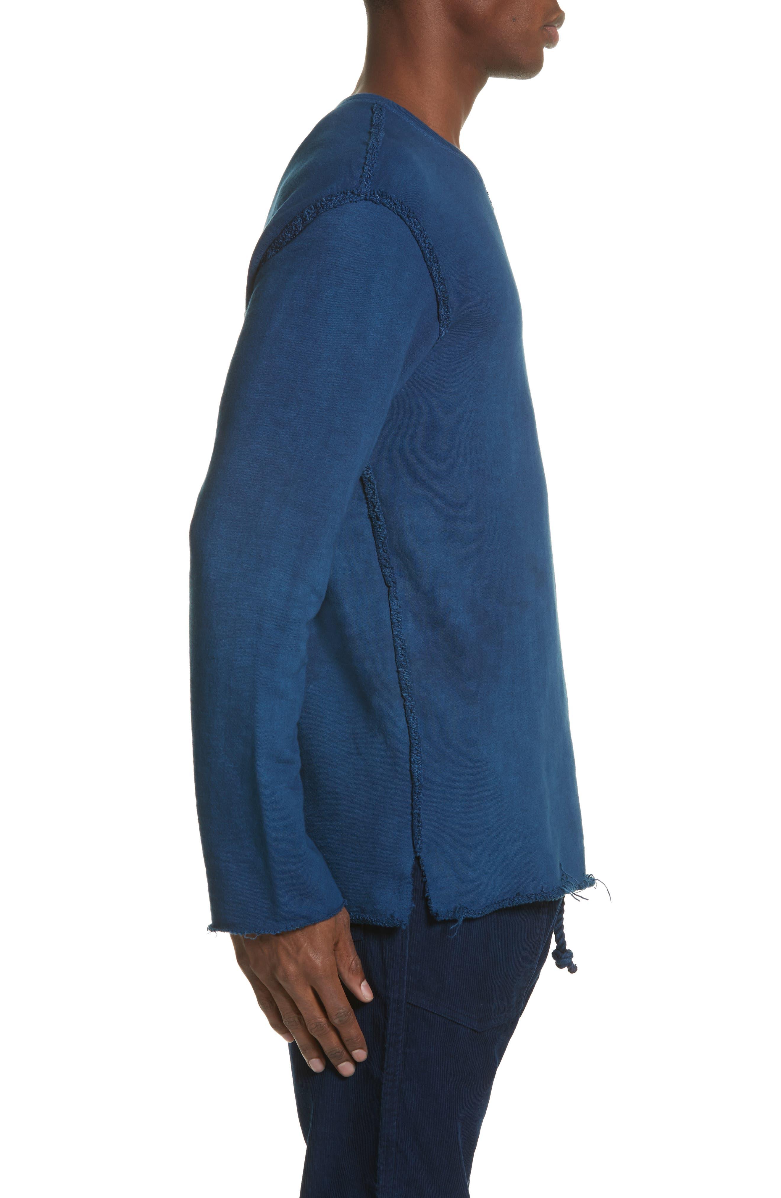 Malibu Reversible Sweatshirt,                             Alternate thumbnail 4, color,                             Indigo