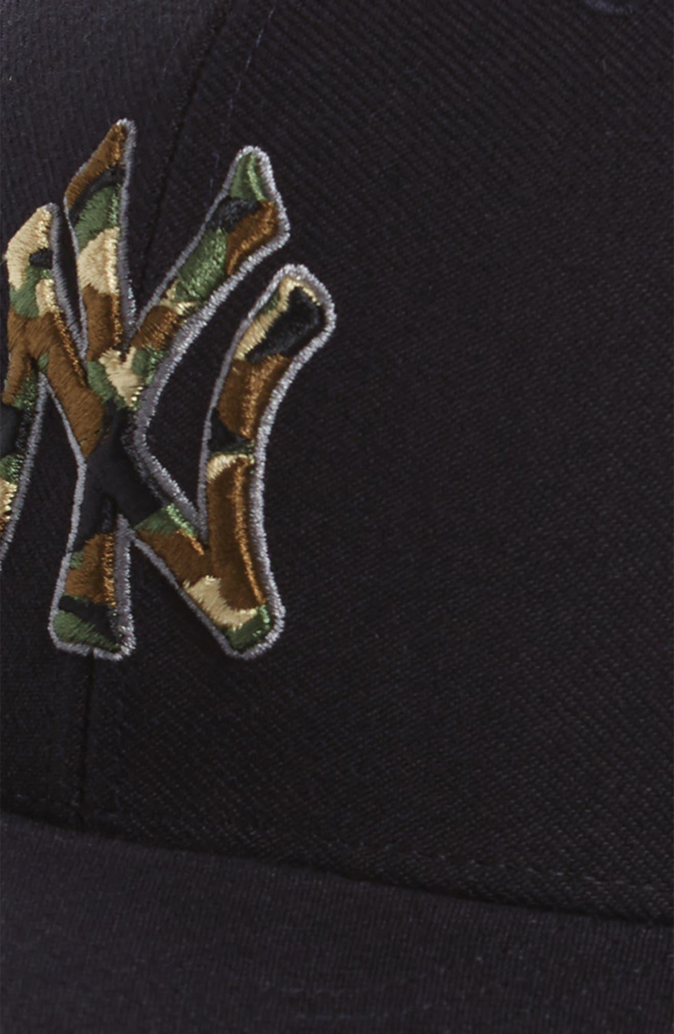 Camfill New York Yankees Baseball Cap,                             Alternate thumbnail 3, color,                             Navy